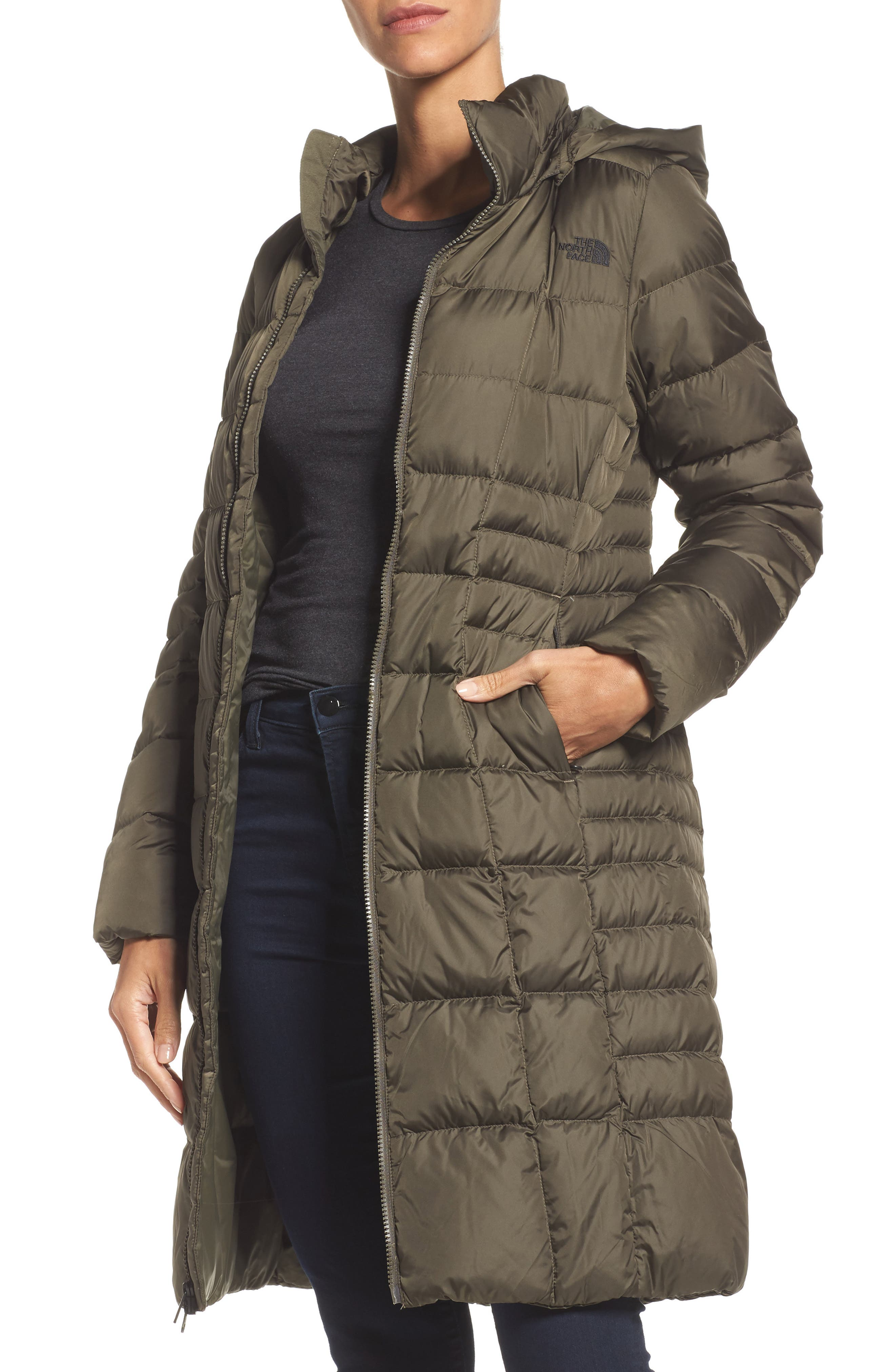 'Metropolis II' Hooded Water Resistant Down Parka,                         Main,                         color, NEW TAUPE