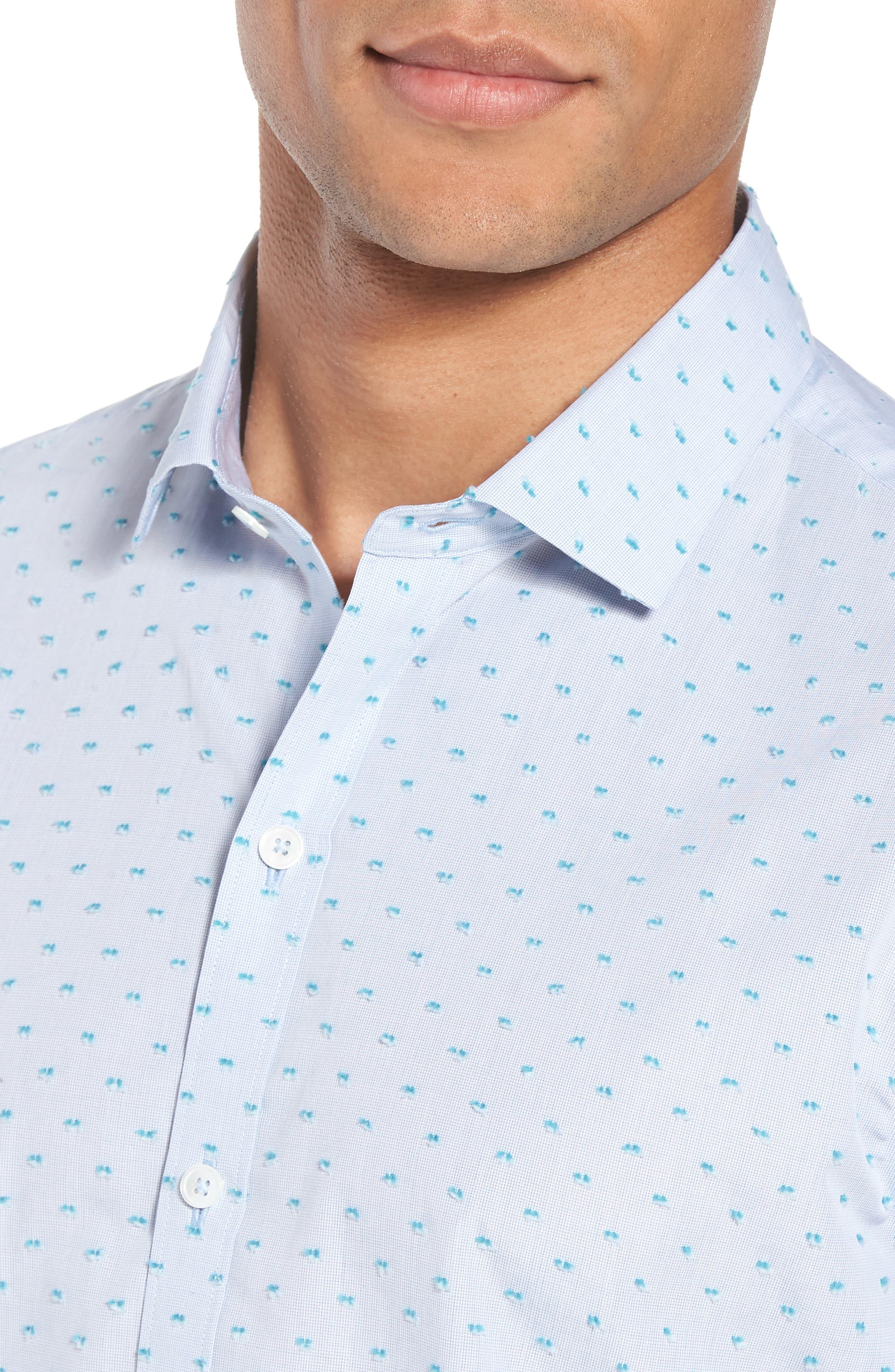Dolle Fil a Coupe Sport Shirt,                             Alternate thumbnail 4, color,                             450