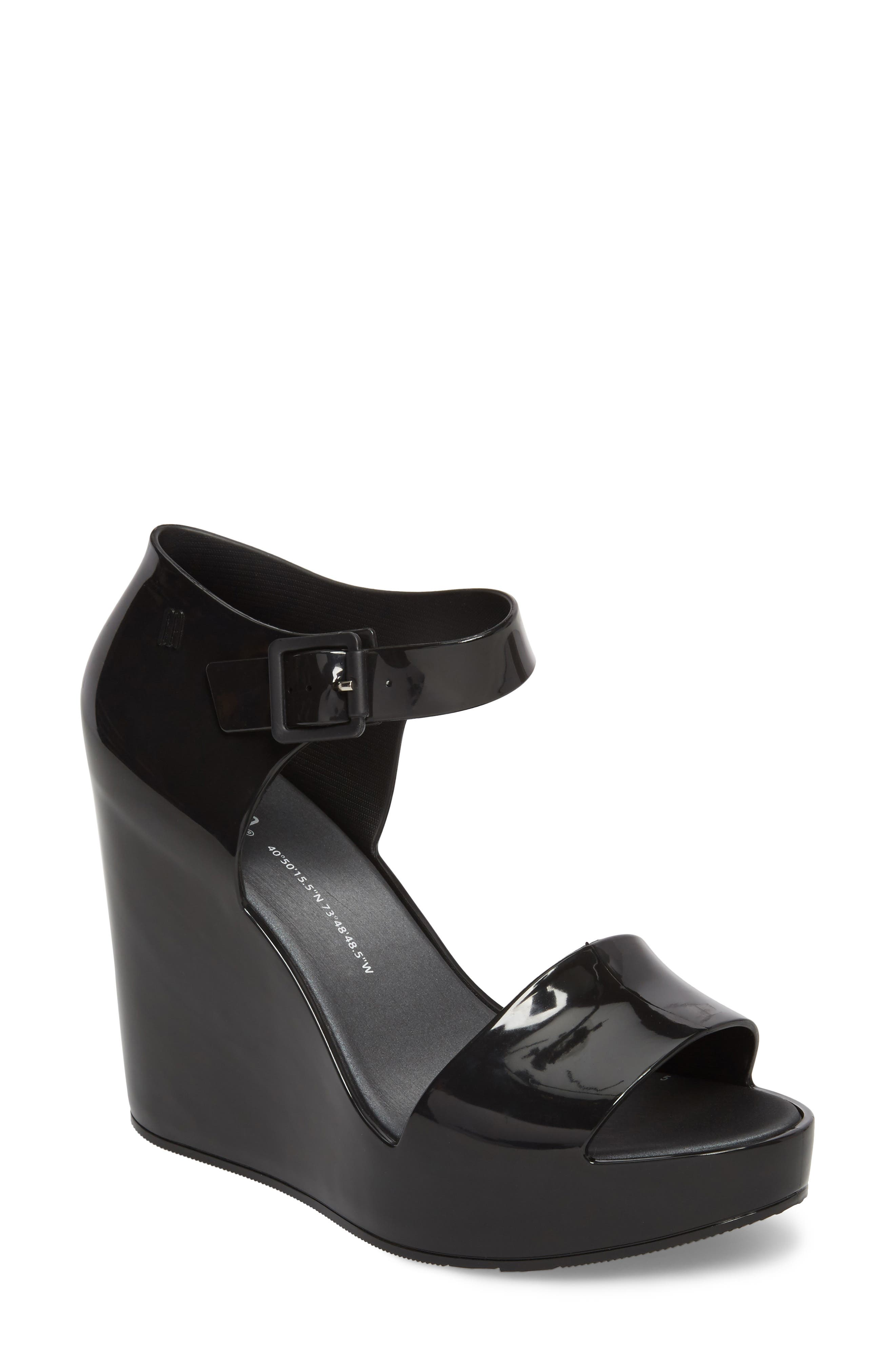 Mar Platform Wedge Sandal,                         Main,                         color, BLACK