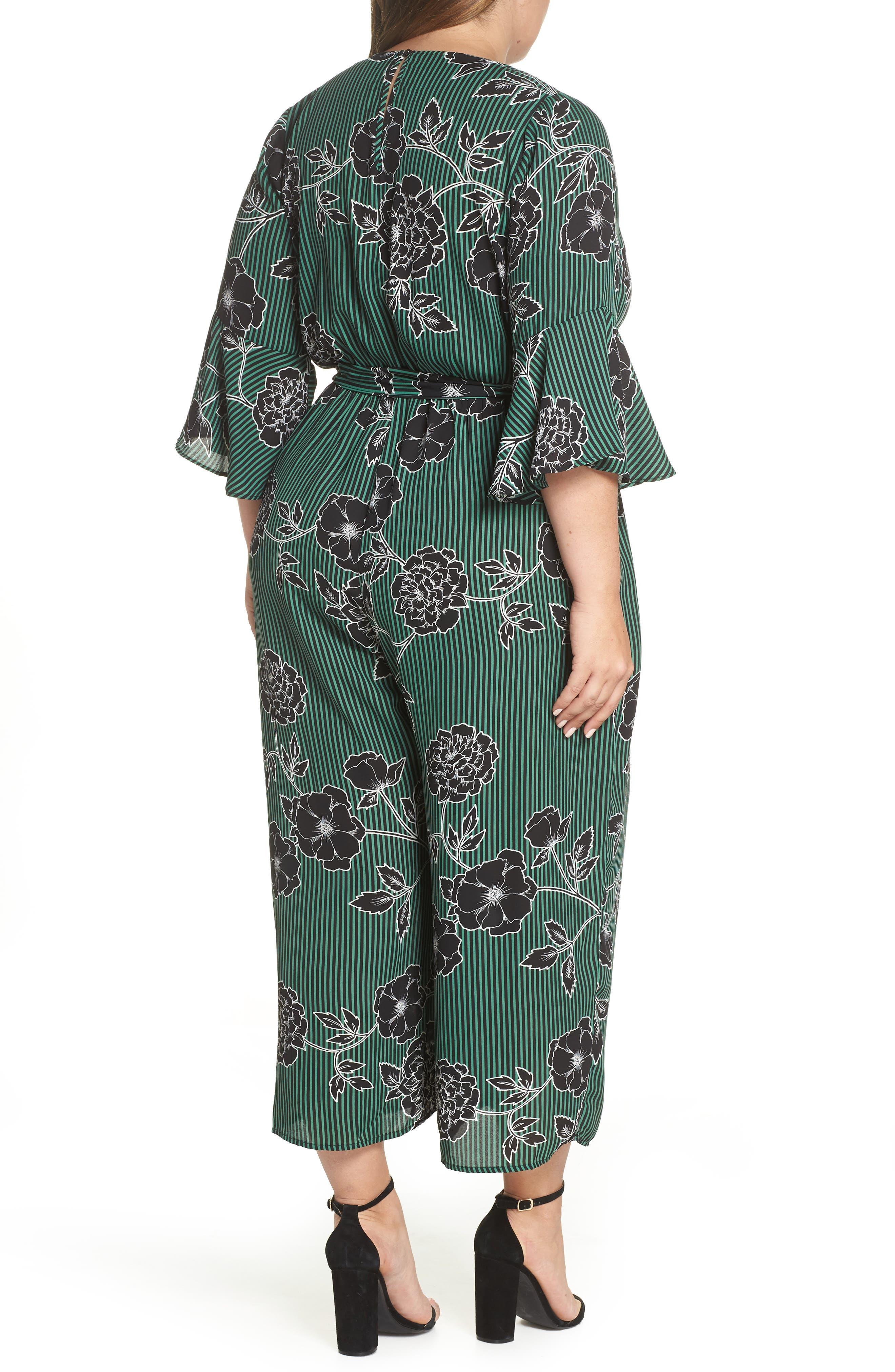 Floral Print Jumpsuit,                             Alternate thumbnail 3, color,                             VARSITY FLORAL
