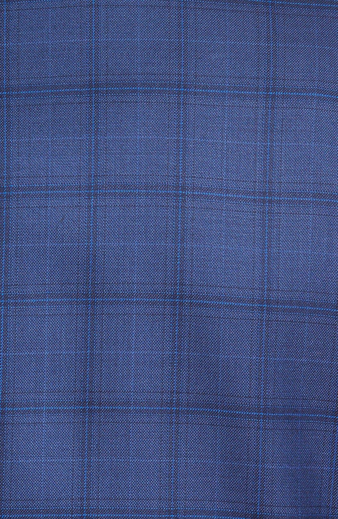 'Flynn' Classic Fit Plaid Wool Sport Coat,                             Alternate thumbnail 5, color,                             400