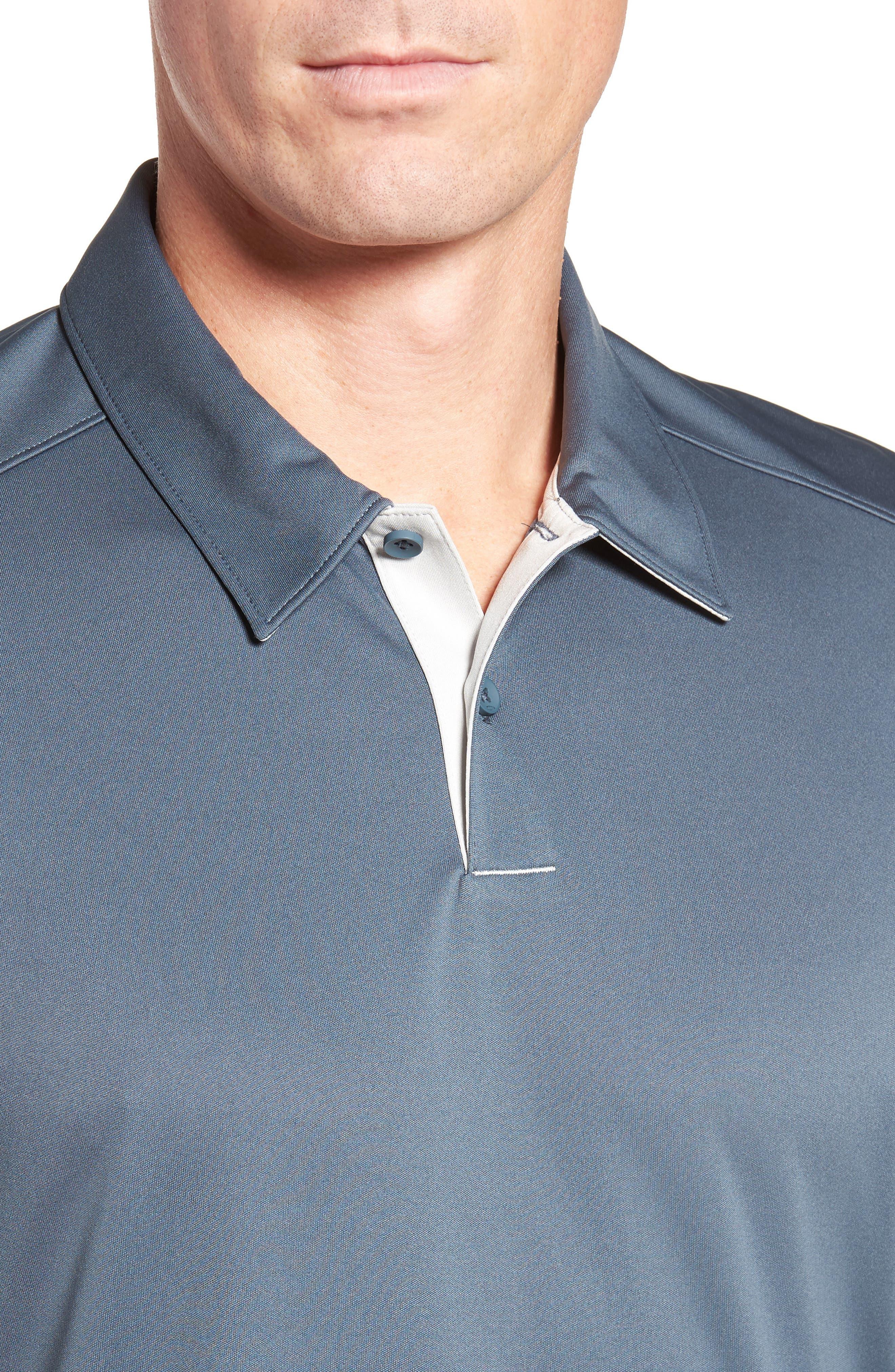 Divisional Polo Shirt,                             Alternate thumbnail 4, color,                             DARK SLATE