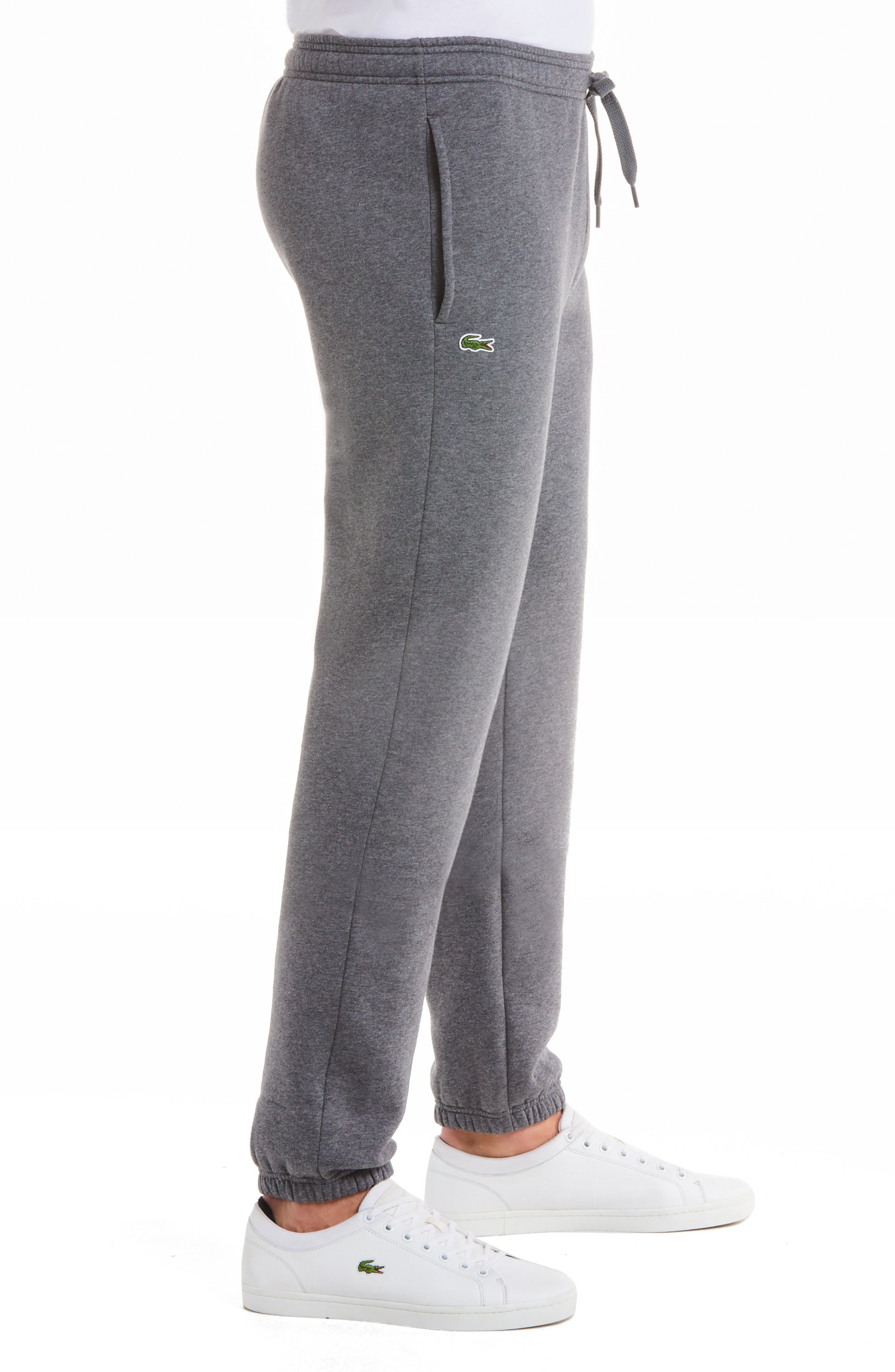 'Sport' Tapered Sweatpants,                             Alternate thumbnail 3, color,                             PITCH