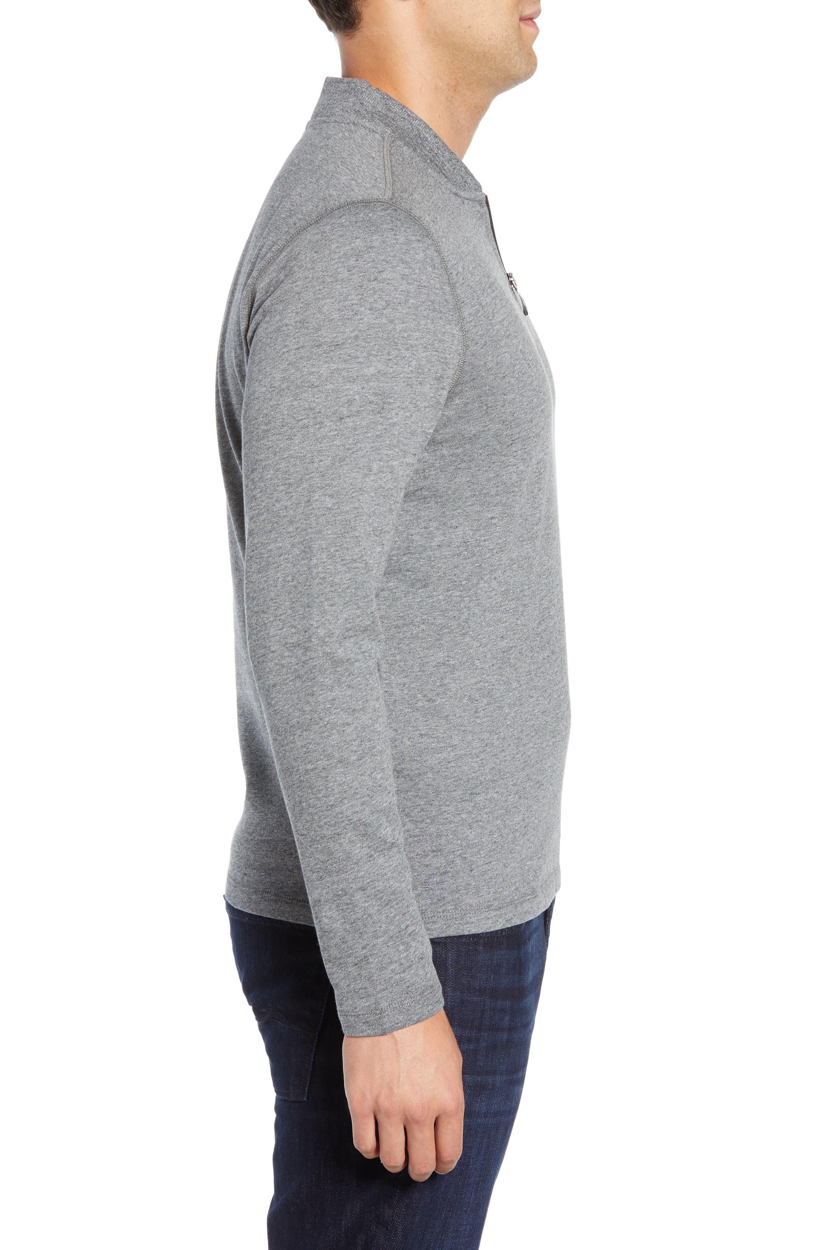 Carney Quarter Zip Sweatshirt,                             Alternate thumbnail 3, color,                             MID GREY