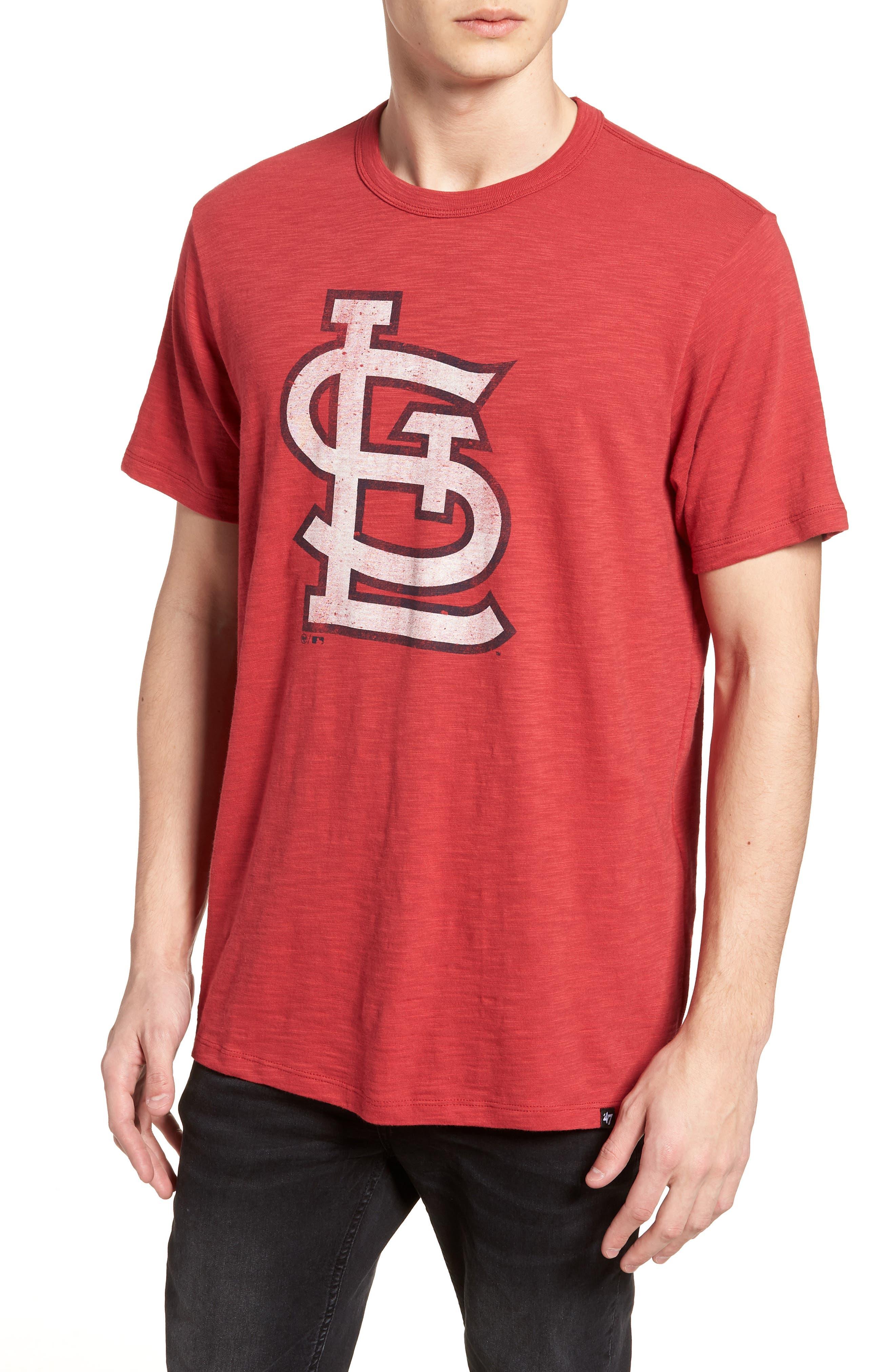 Grit Scrum St. Louis Cardinals T-Shirt,                             Main thumbnail 1, color,                             RESCUE RED