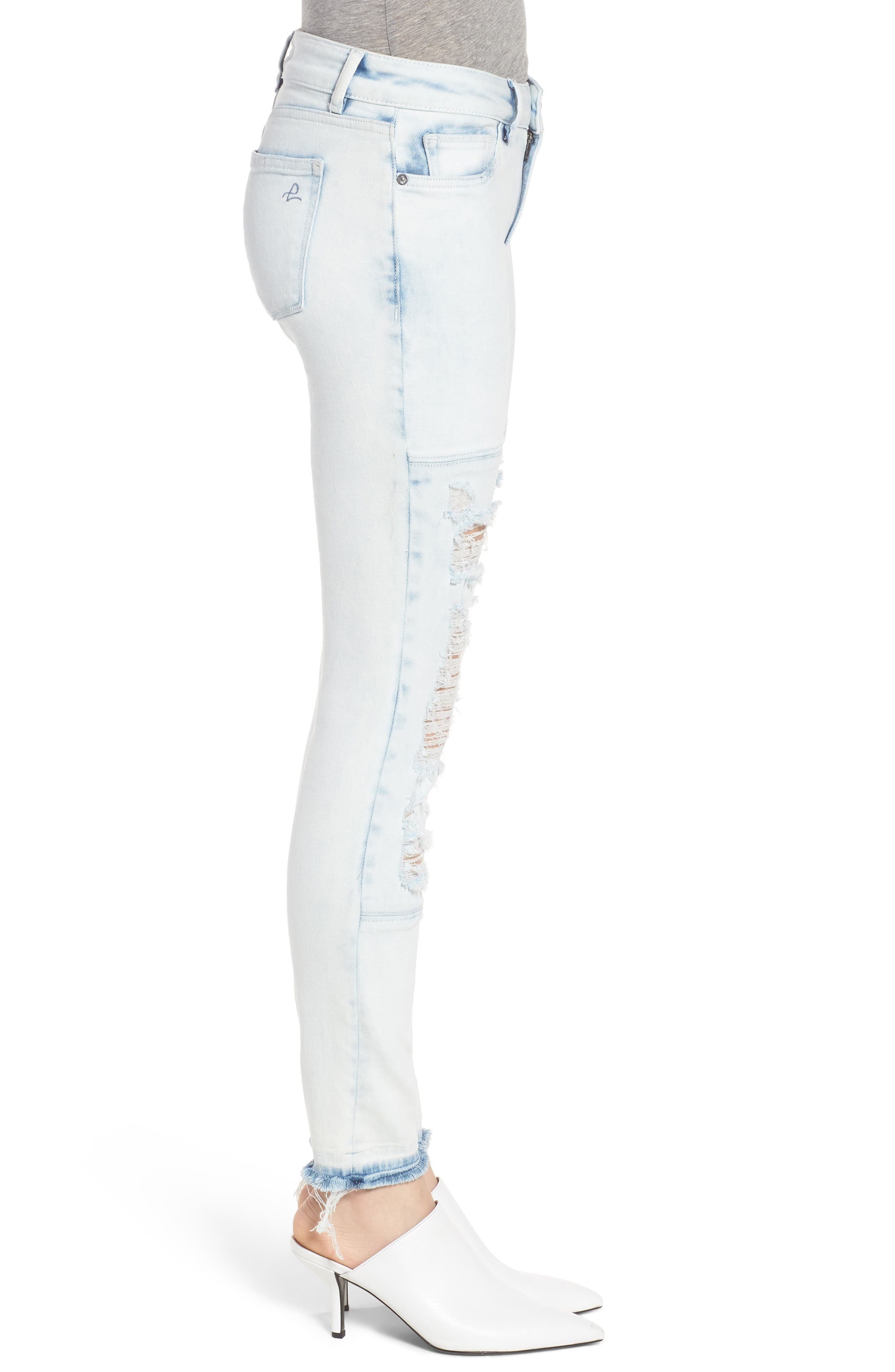 Emma Power Legging Ripped Skinny Jeans,                             Alternate thumbnail 3, color,                             020