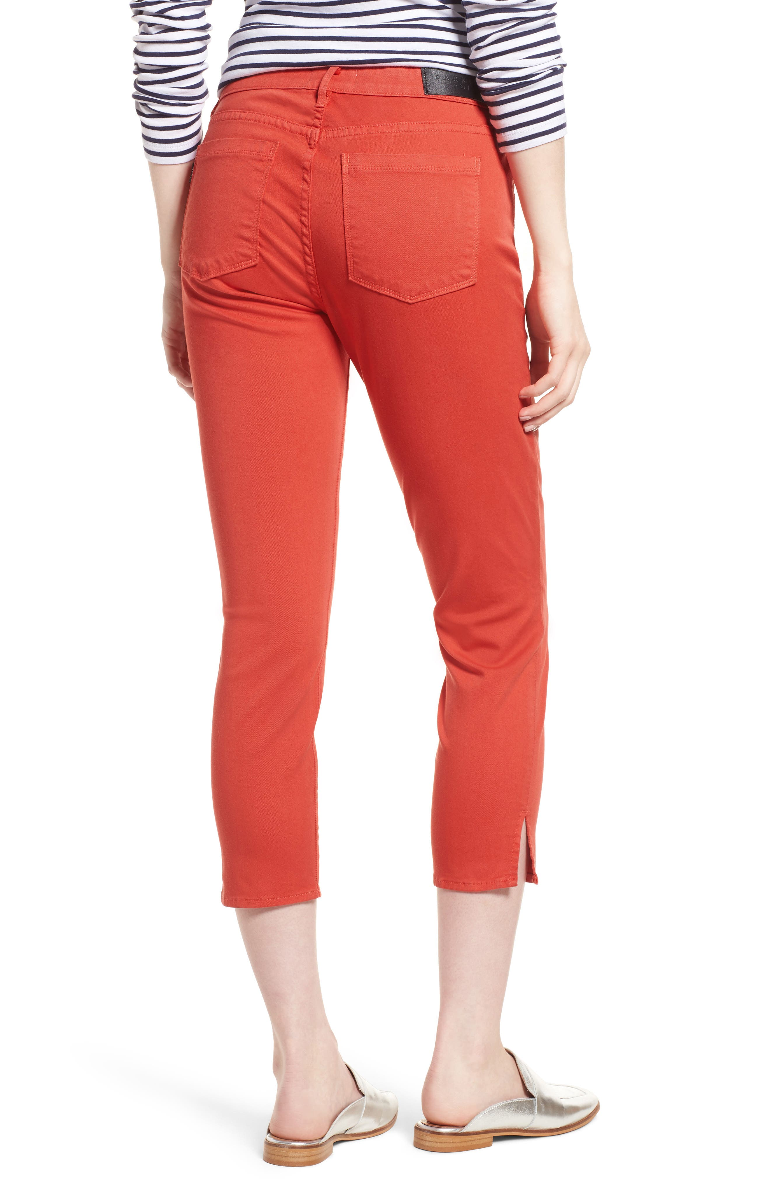 Pedal Pusher Crop Jeans,                             Alternate thumbnail 2, color,