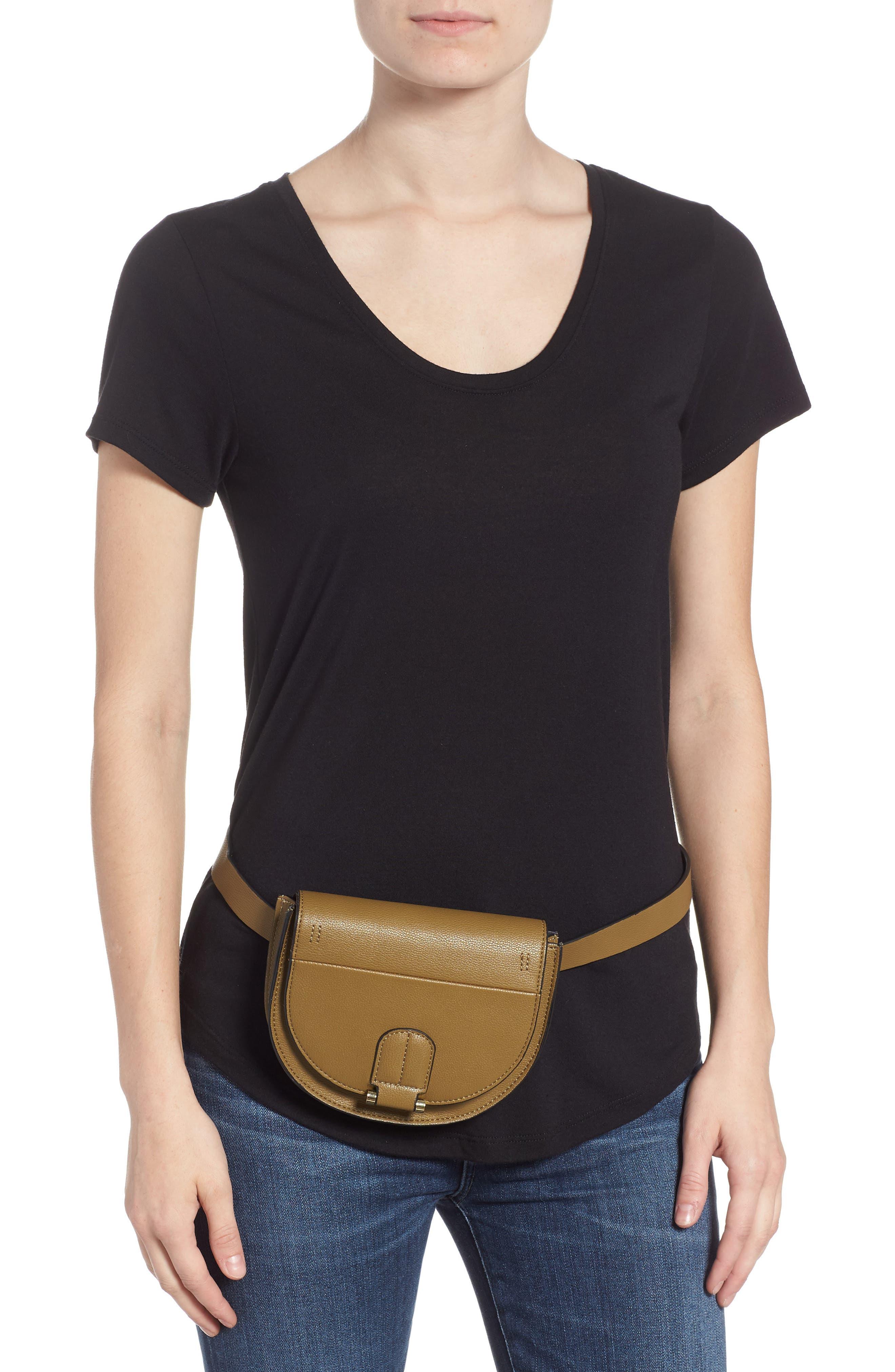 Alissa Faux Leather Belt Bag,                             Alternate thumbnail 2, color,                             OLIVE