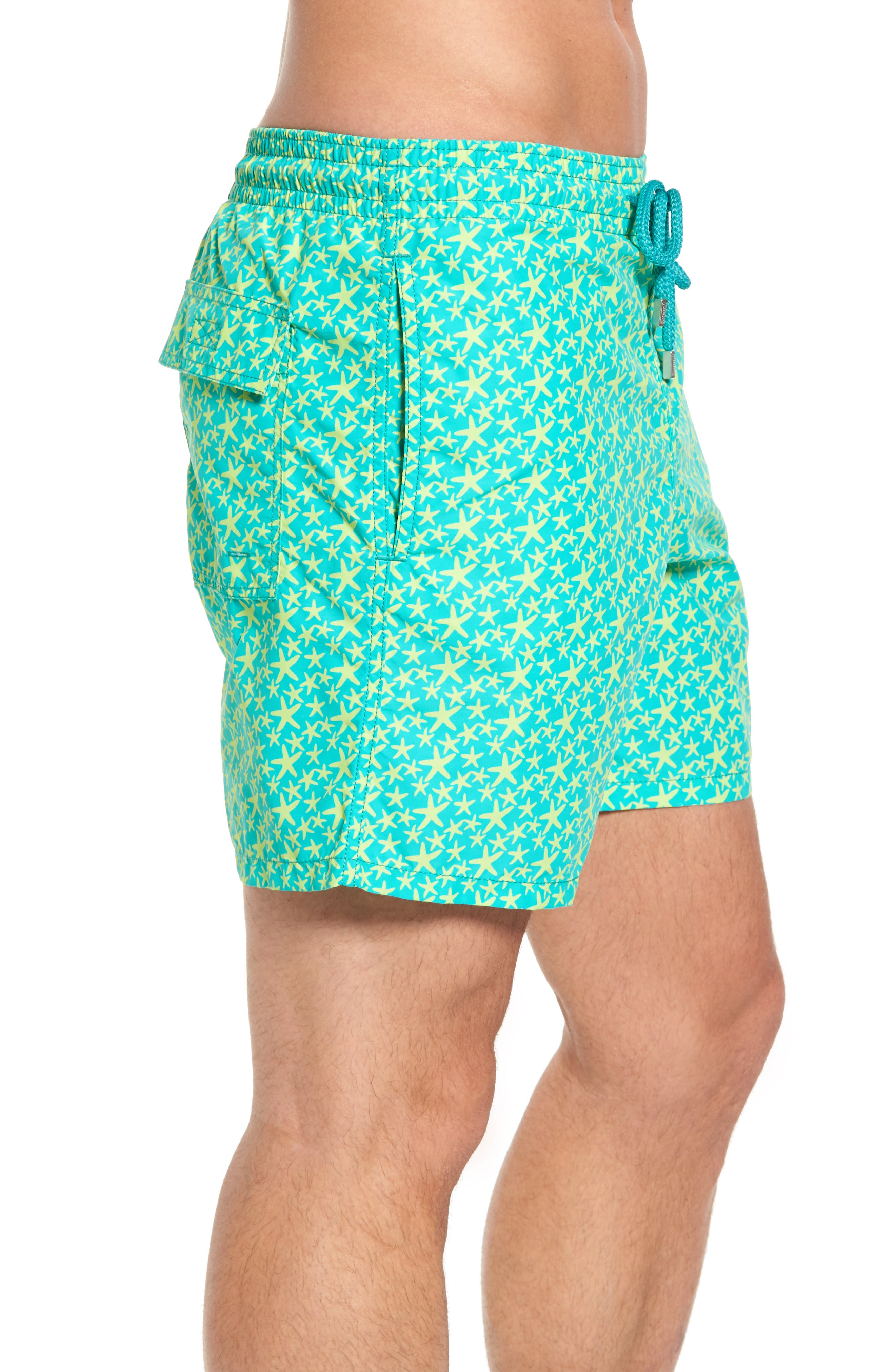 Micro Starlets Swim Trunks,                             Alternate thumbnail 3, color,                             348