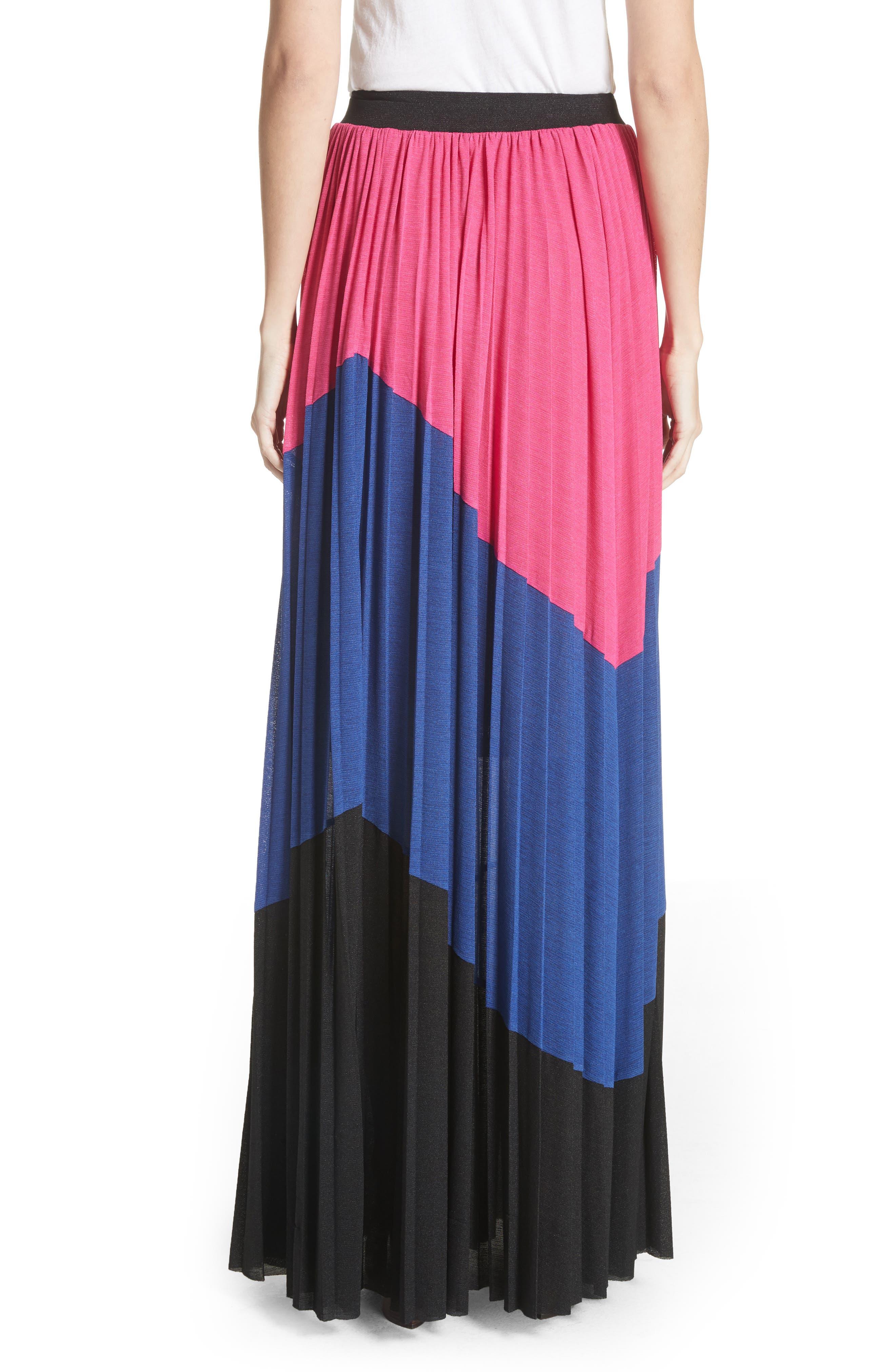 Colorblock Maxi Skirt,                             Alternate thumbnail 2, color,                             007