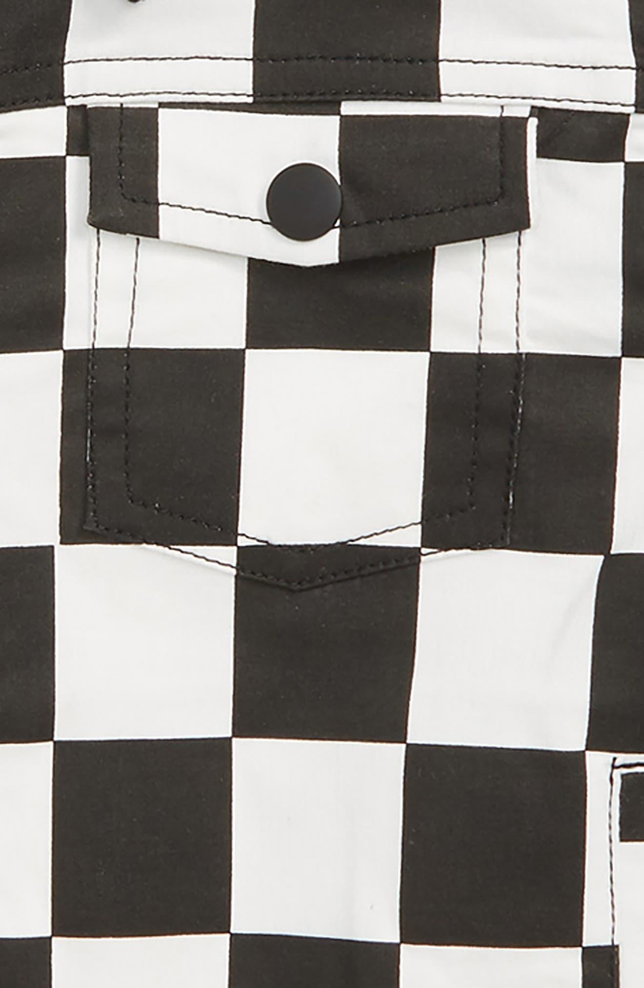 Colton Checkerboard Jacket,                             Alternate thumbnail 2, color,                             BLACK