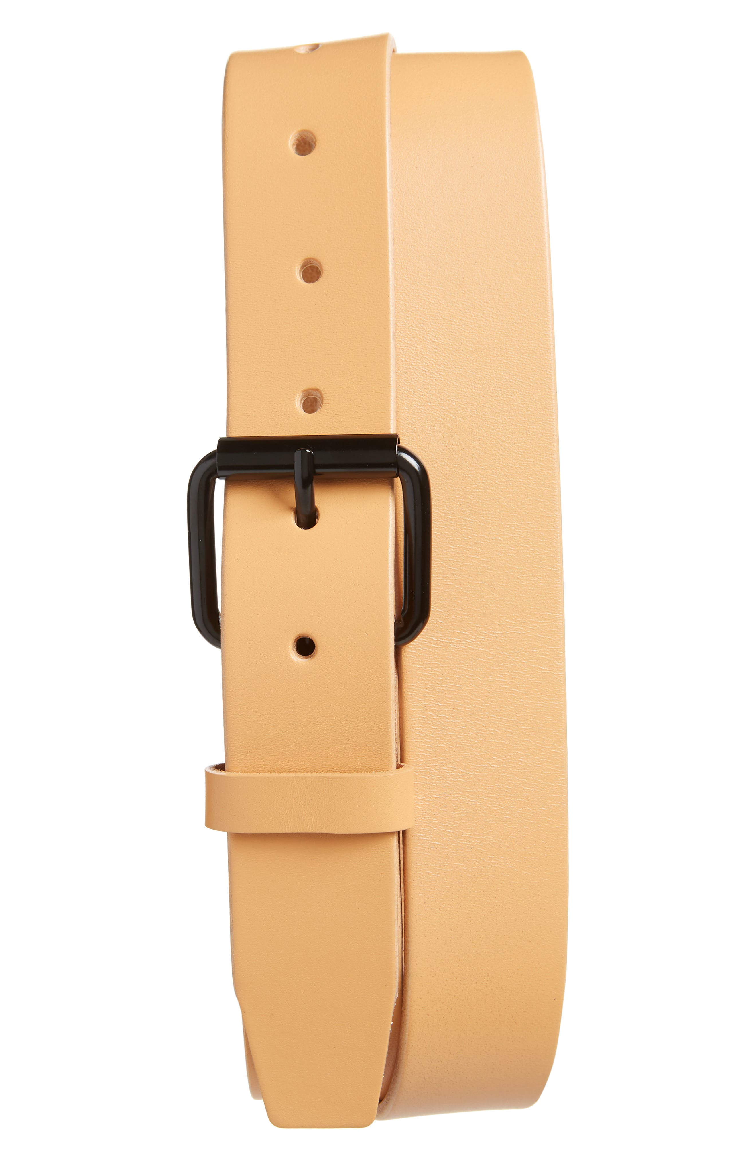Saturdays Nyc Rockaway Leather Belt, Size One Size - Vegetable Tan