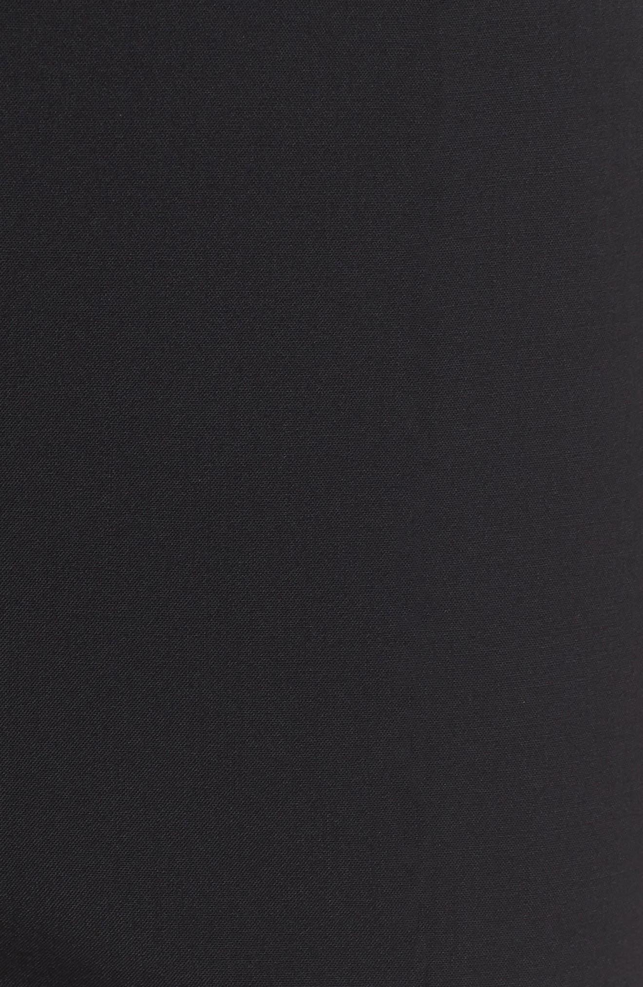 Slit Detail Cigarette Pants,                             Alternate thumbnail 6, color,                             001