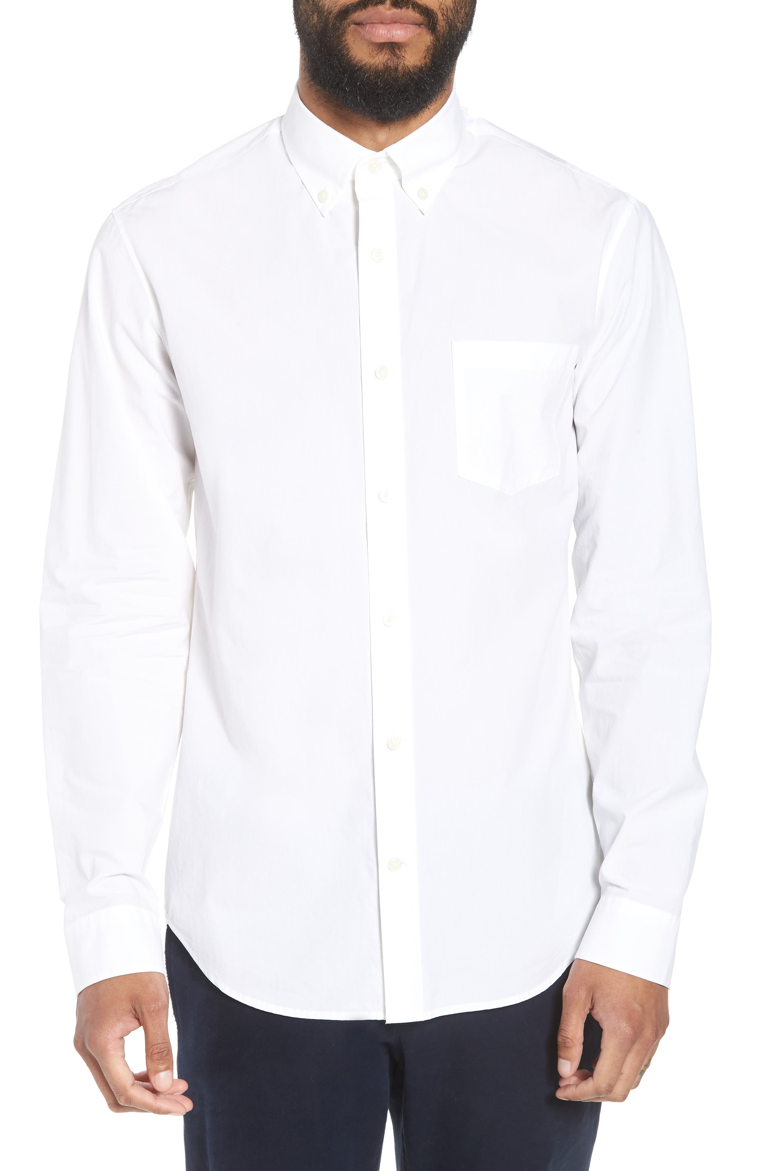 Slim Fit Solid Sport Shirt,                         Main,                         color,