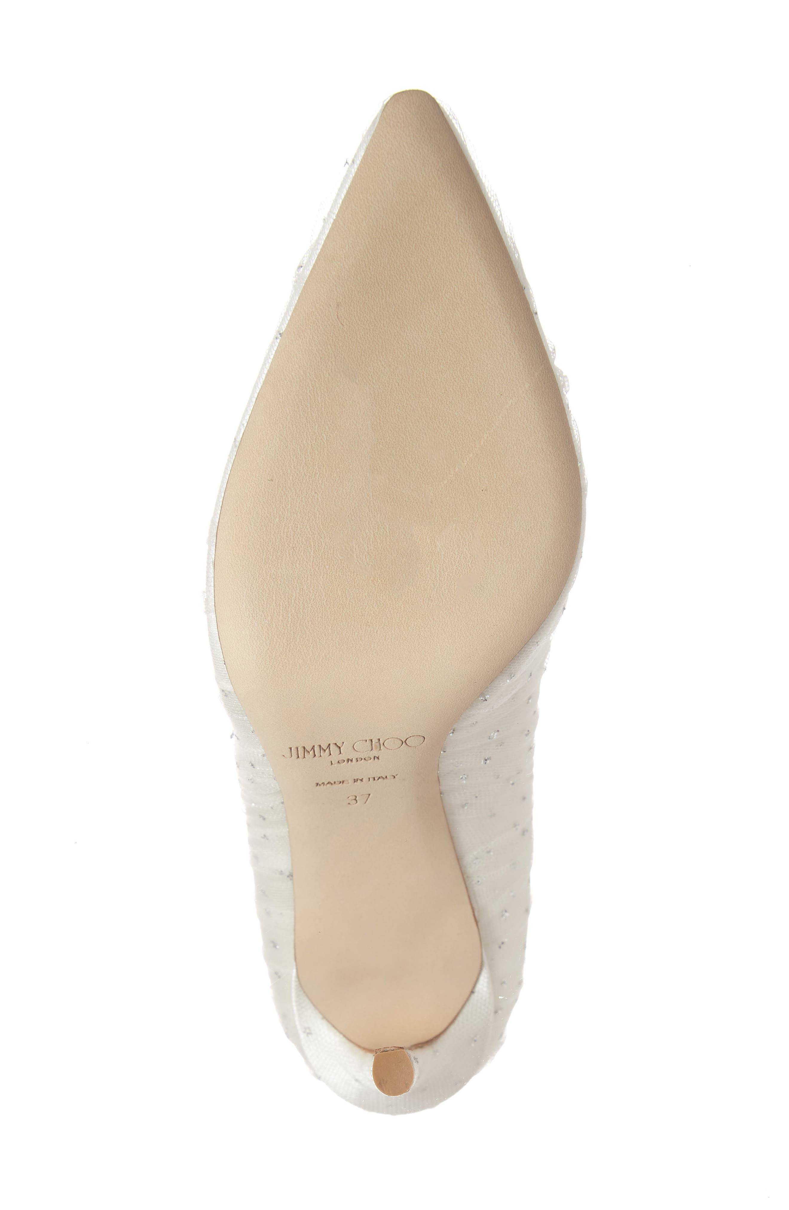 Romy Pointy Toe Pump,                             Alternate thumbnail 6, color,                             WHITE/ SILVER