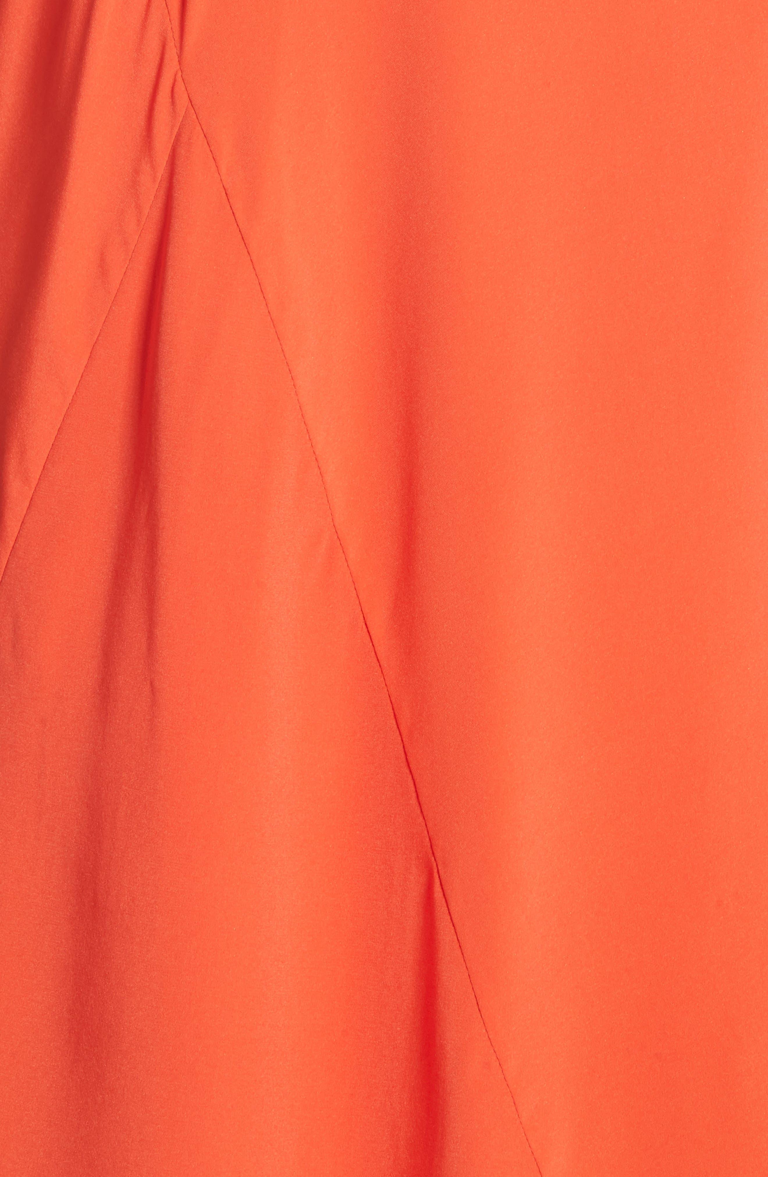Colorblock Drape Silk Blend Dress,                             Alternate thumbnail 5, color,                             650