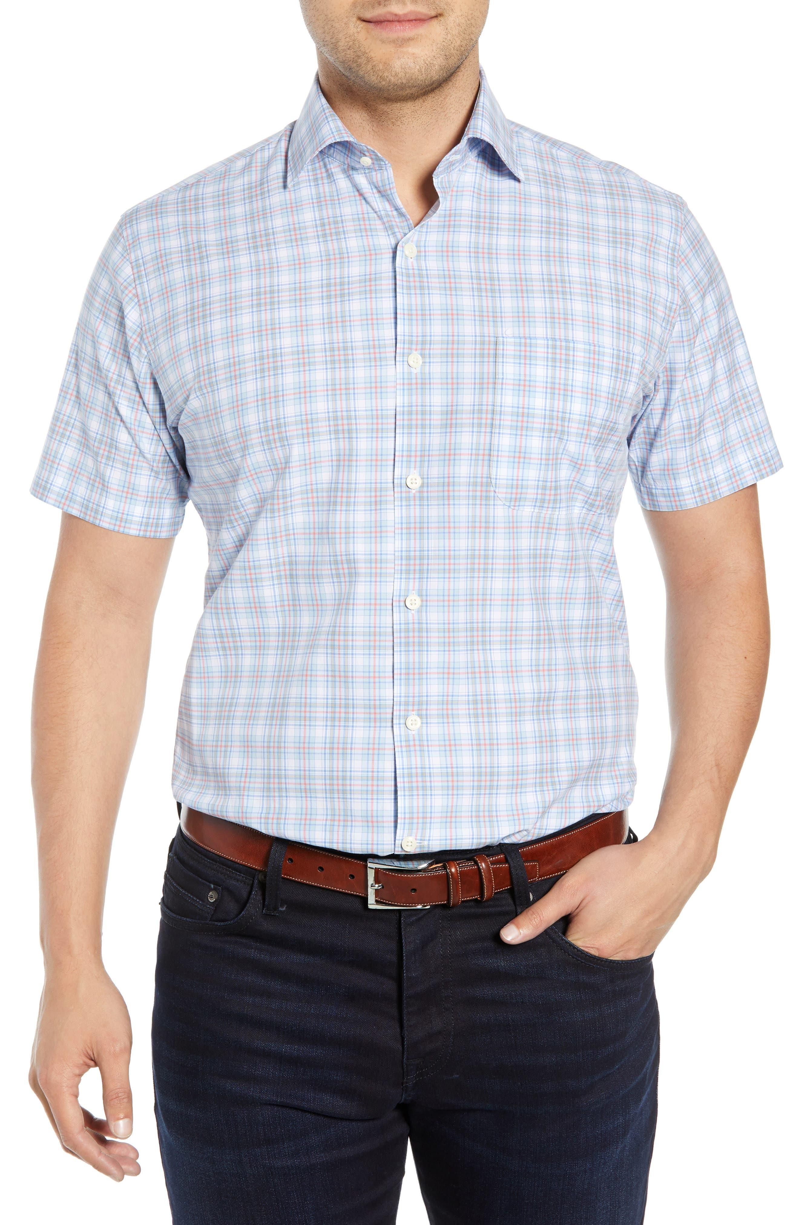 Peter Millar Verona Regular Fit Sport Shirt, Blue