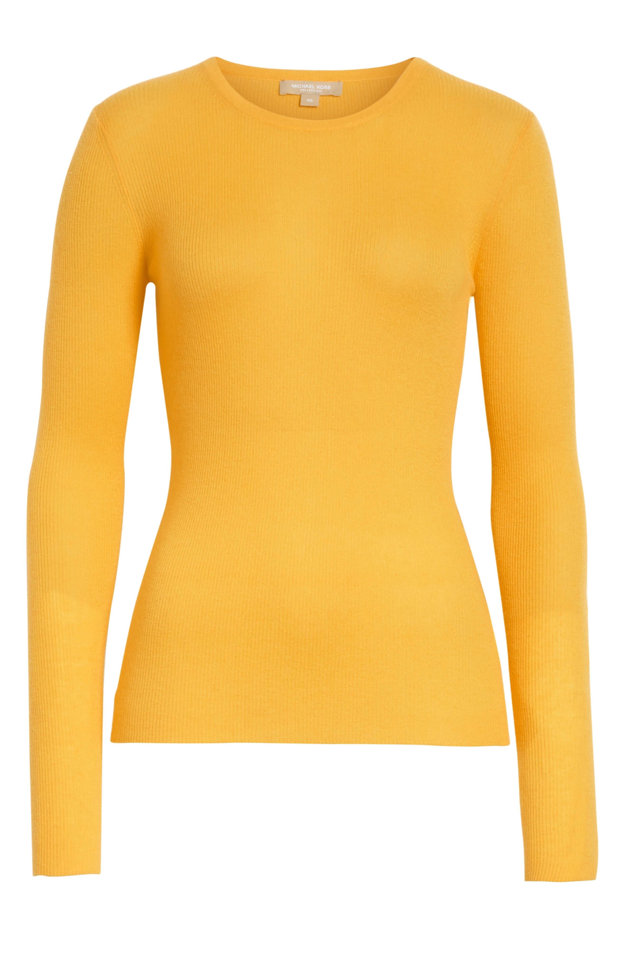 Cashmere Crewneck Sweater,                             Alternate thumbnail 6, color,                             110