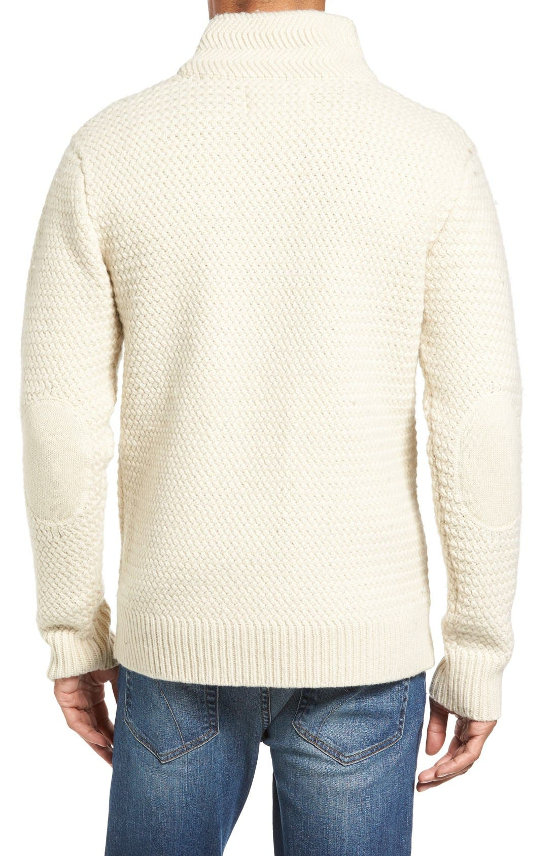 Military Henley Sweater,                             Alternate thumbnail 6, color,                             OFF WHITE