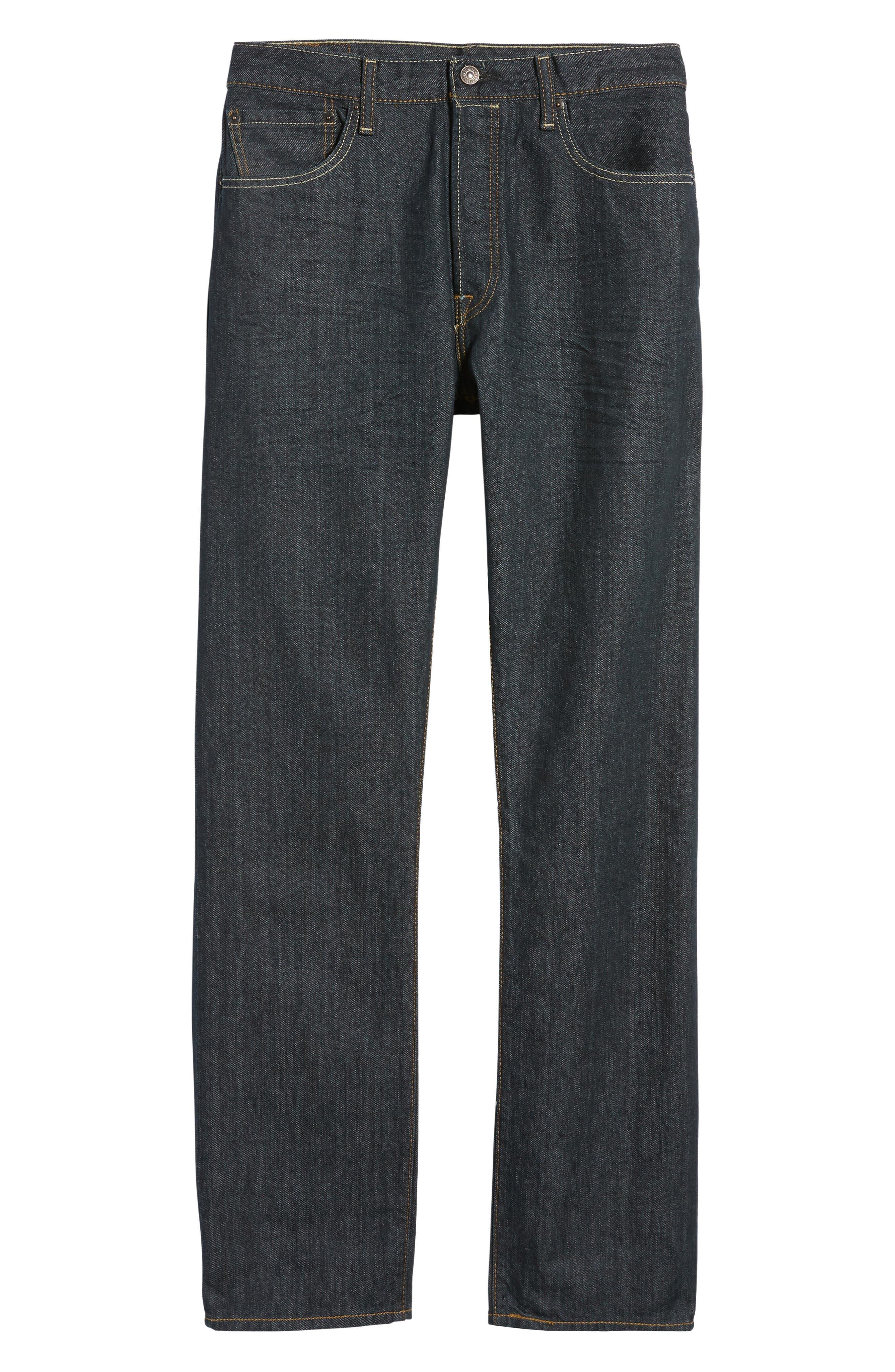 Red Tab<sup>™</sup> '501<sup>®</sup>' Straight Leg Jeans,                             Main thumbnail 1, color,                             DIMENSIONAL RIGID BLUE