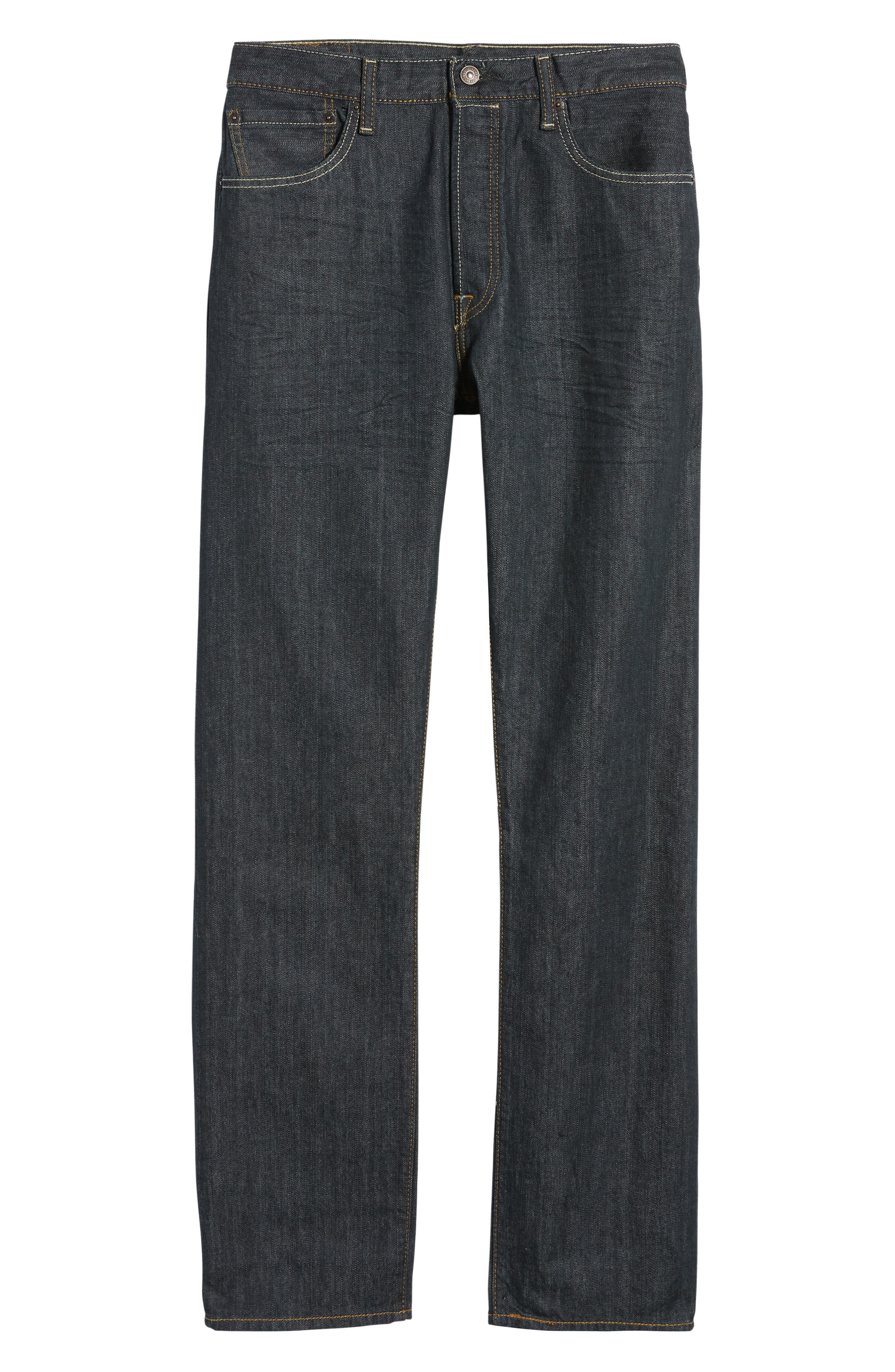 Red Tab<sup>™</sup> '501<sup>®</sup>' Straight Leg Jeans,                         Main,                         color, DIMENSIONAL RIGID BLUE