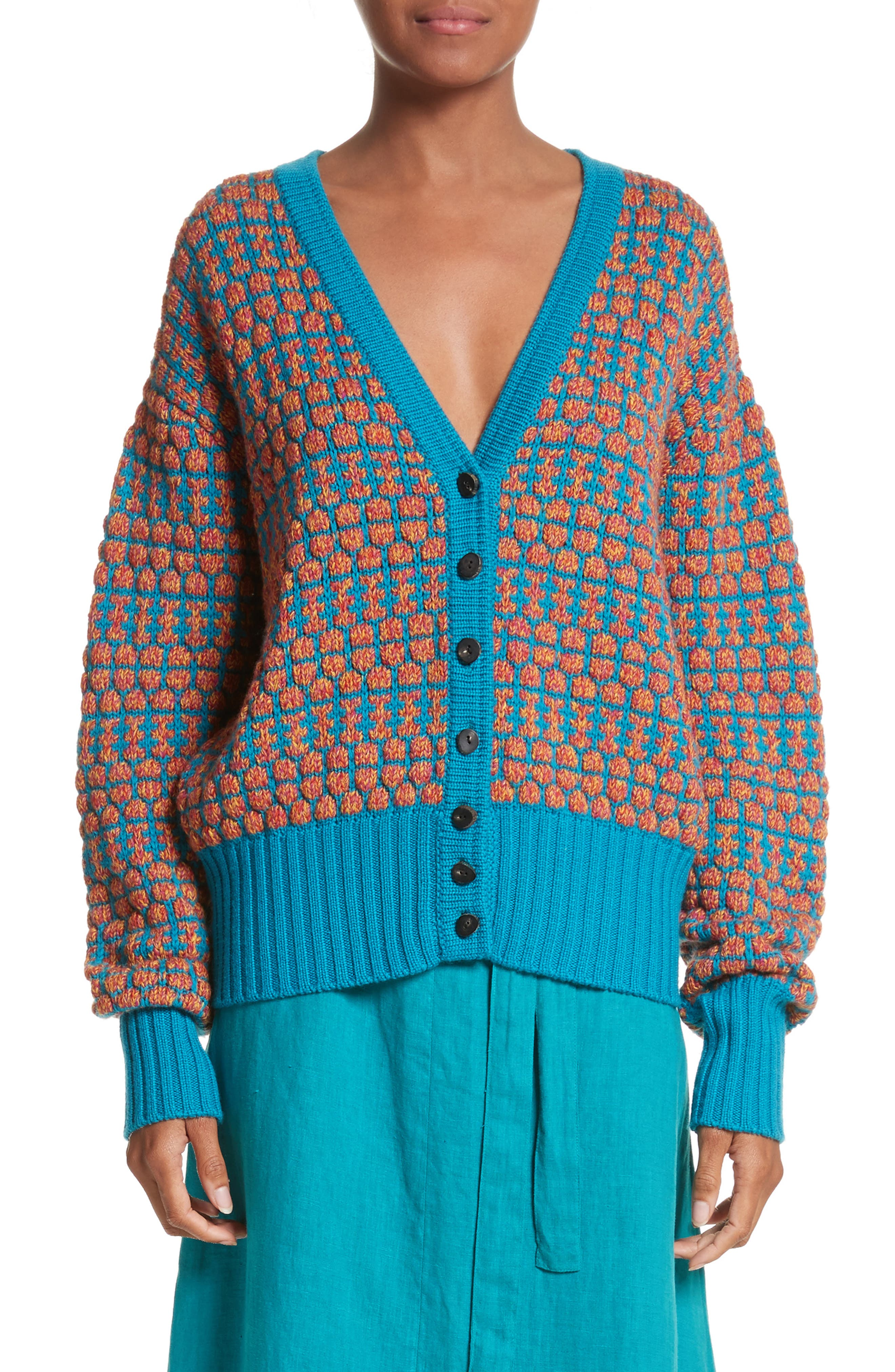 Izee Floral Button Cardigan,                             Main thumbnail 1, color,                             400