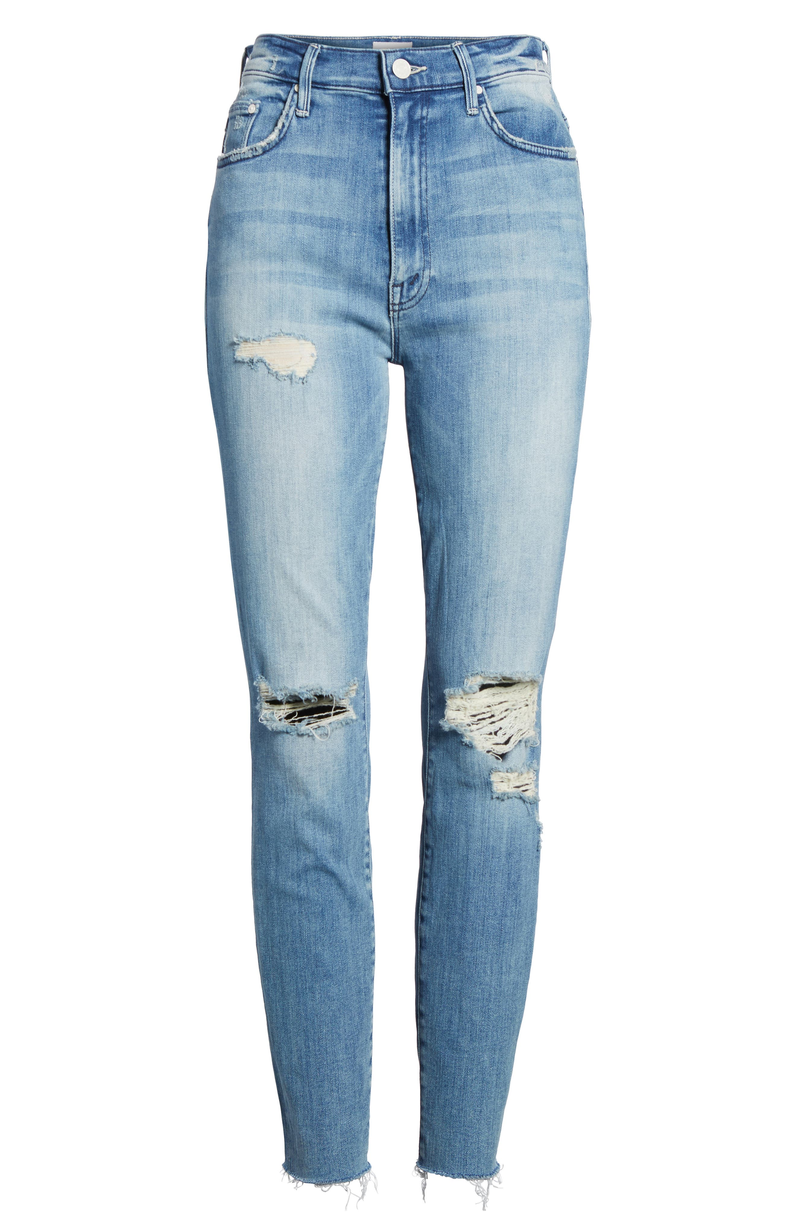 The Swooner High Waist Ankle Skinny Jeans,                             Alternate thumbnail 7, color,                             412