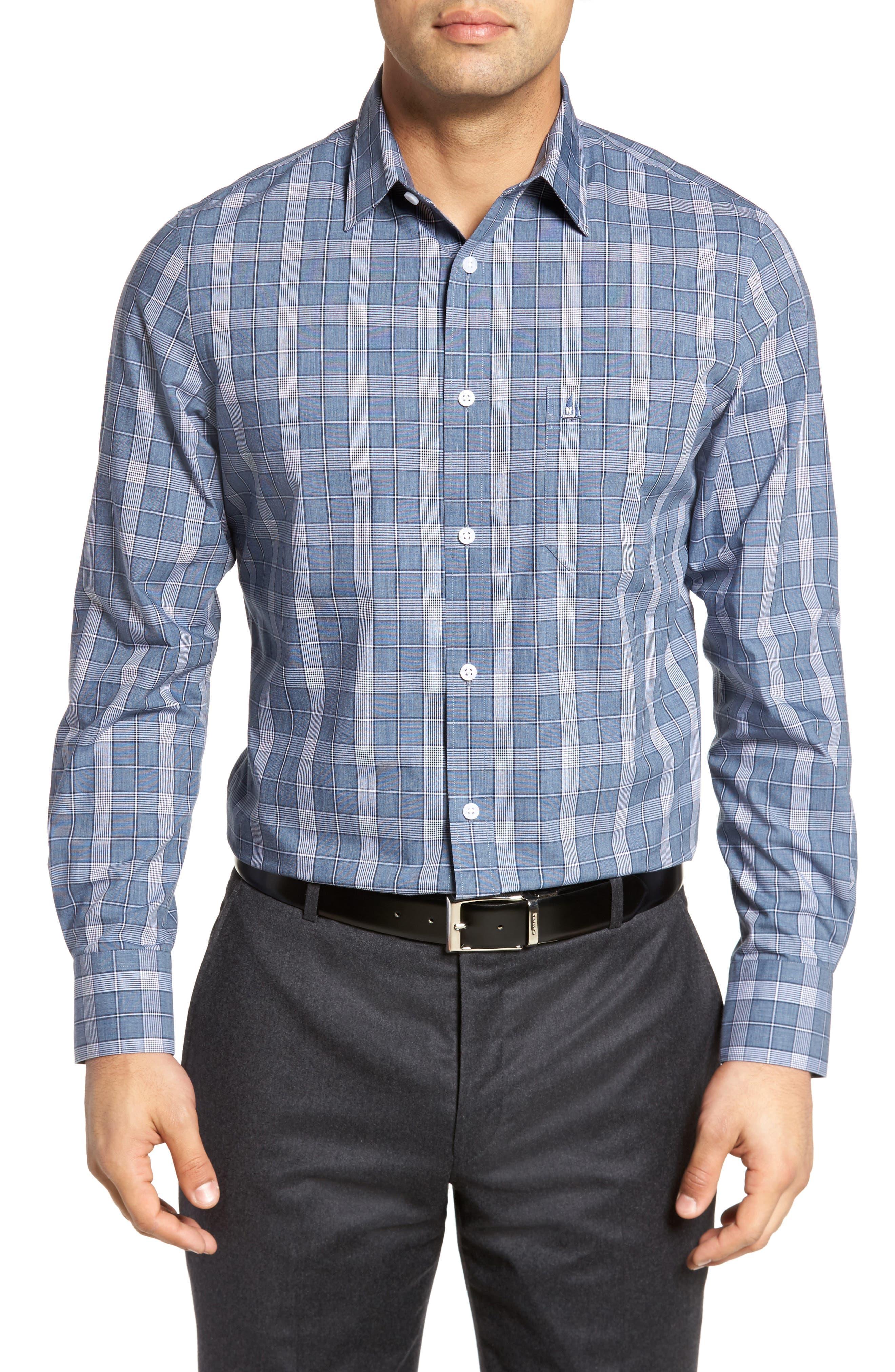 Smartcare<sup>™</sup> Regular Fit Plaid Sport Shirt,                             Main thumbnail 6, color,