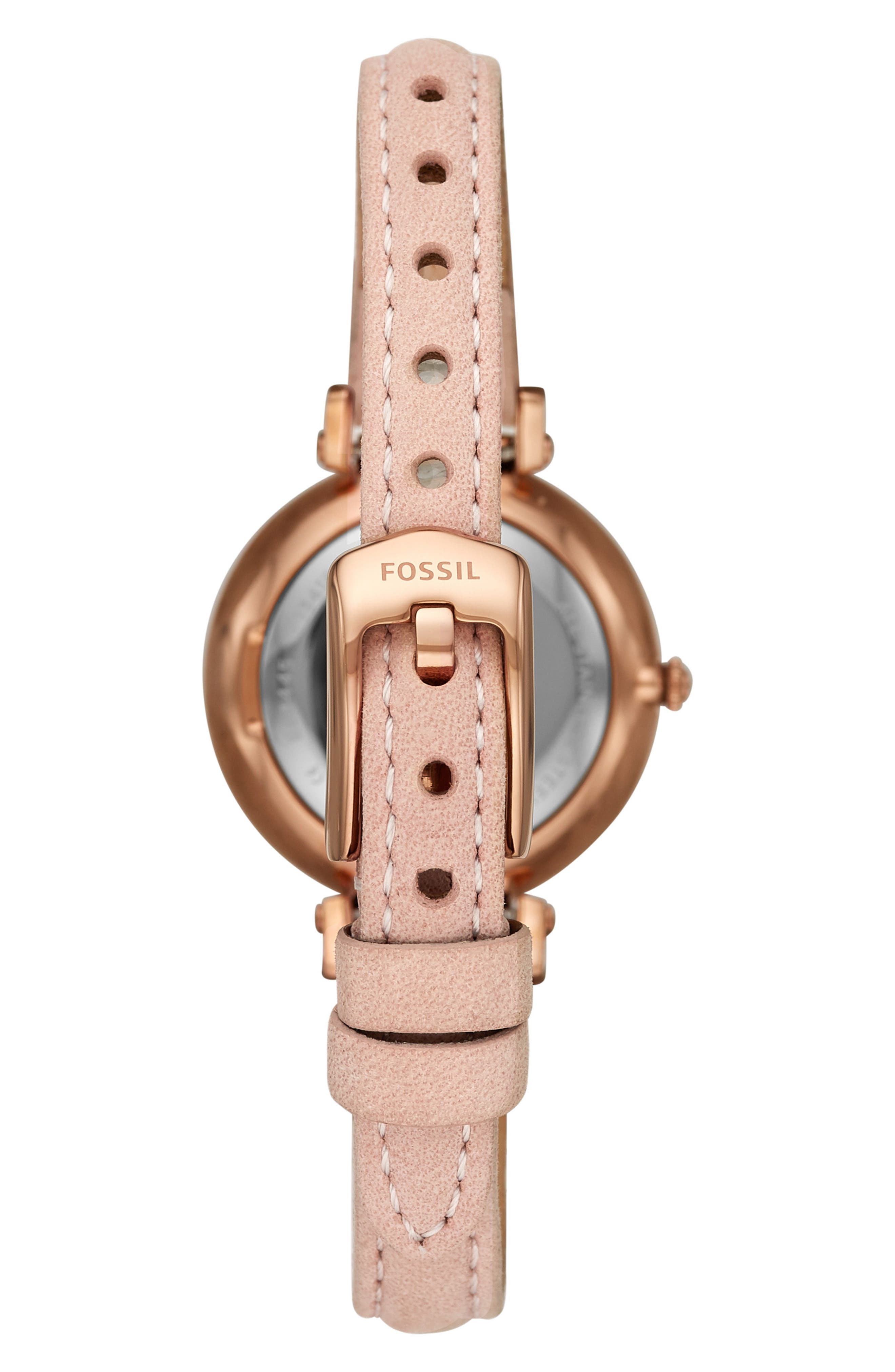 Kinsey Leather Strap Watch, 28mm,                             Alternate thumbnail 2, color,                             BEIGE/ SILVER/ ROSE GOLD