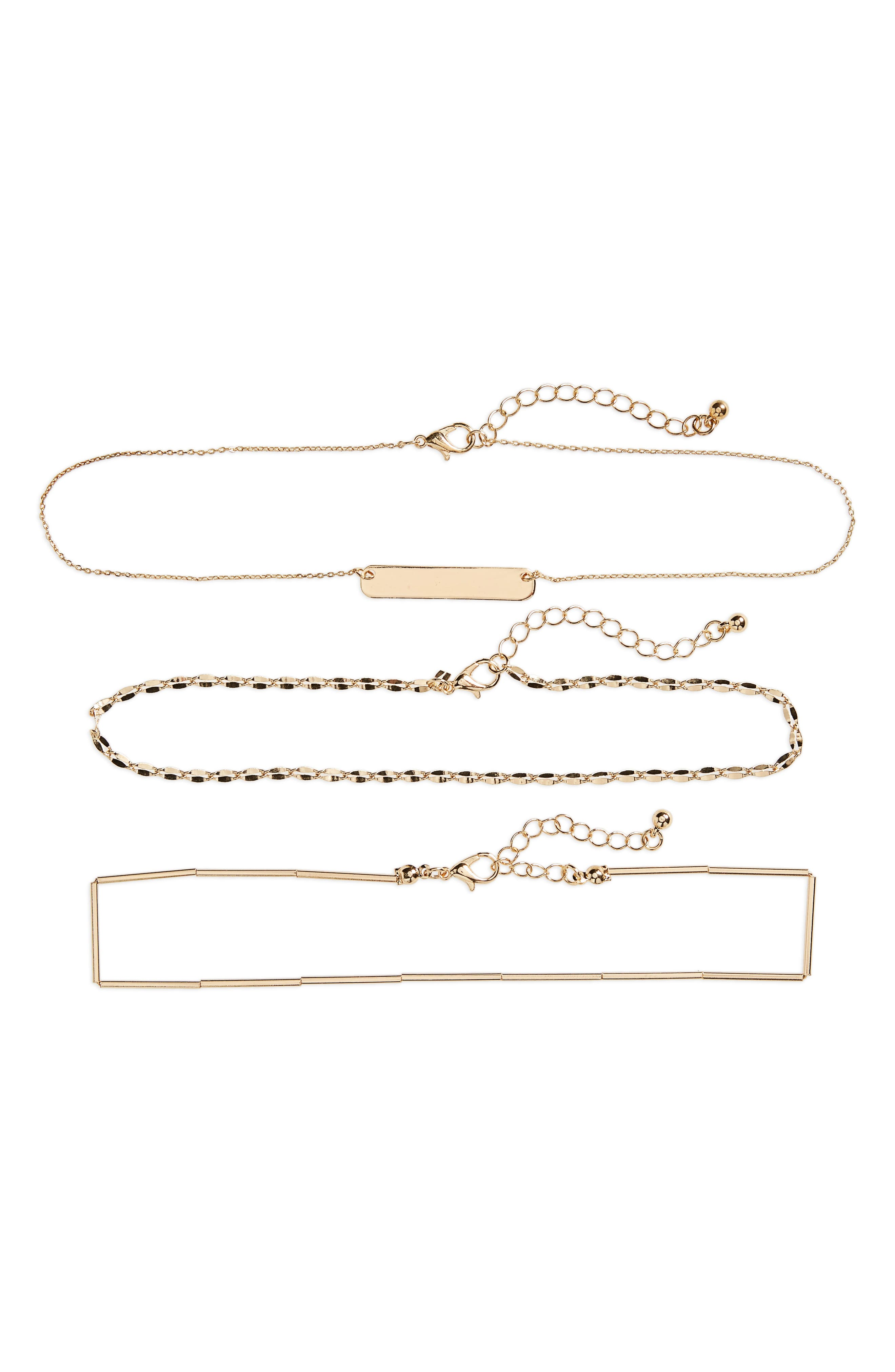 3-Pack Link Necklaces,                         Main,                         color, 710