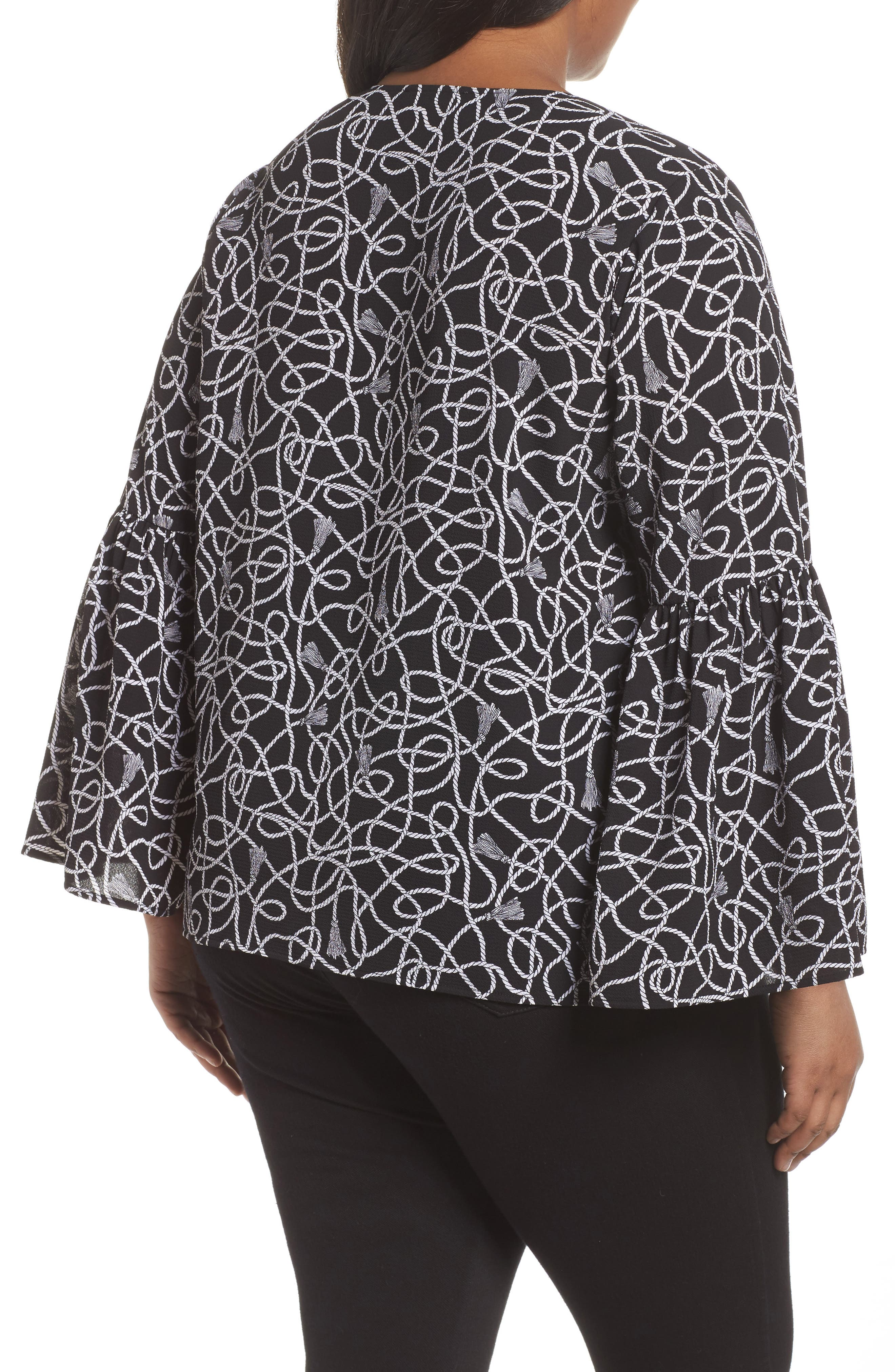 Twisted Rope Blouse,                             Alternate thumbnail 2, color,
