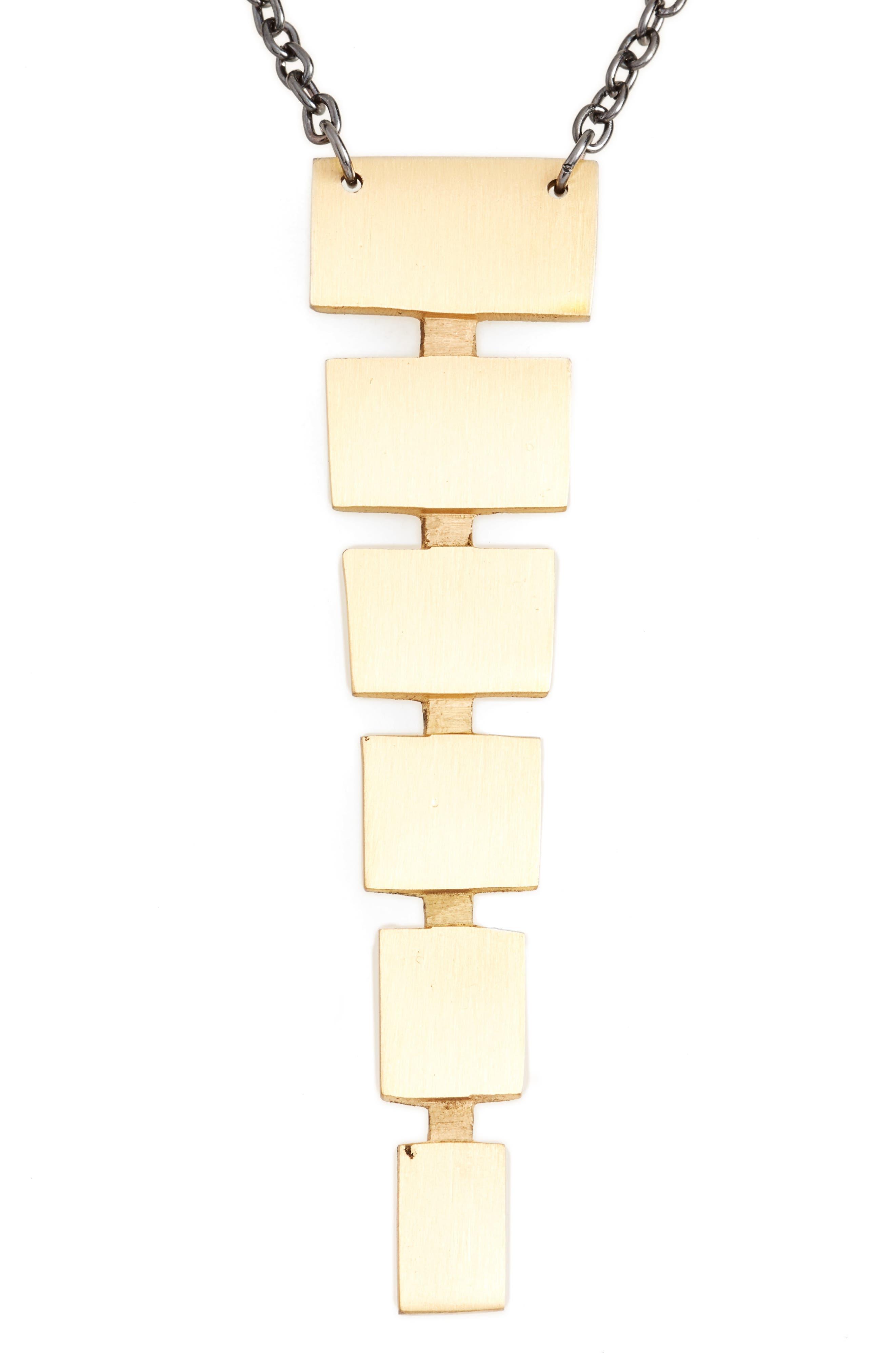 Block Pendant Necklace,                             Main thumbnail 2, color,