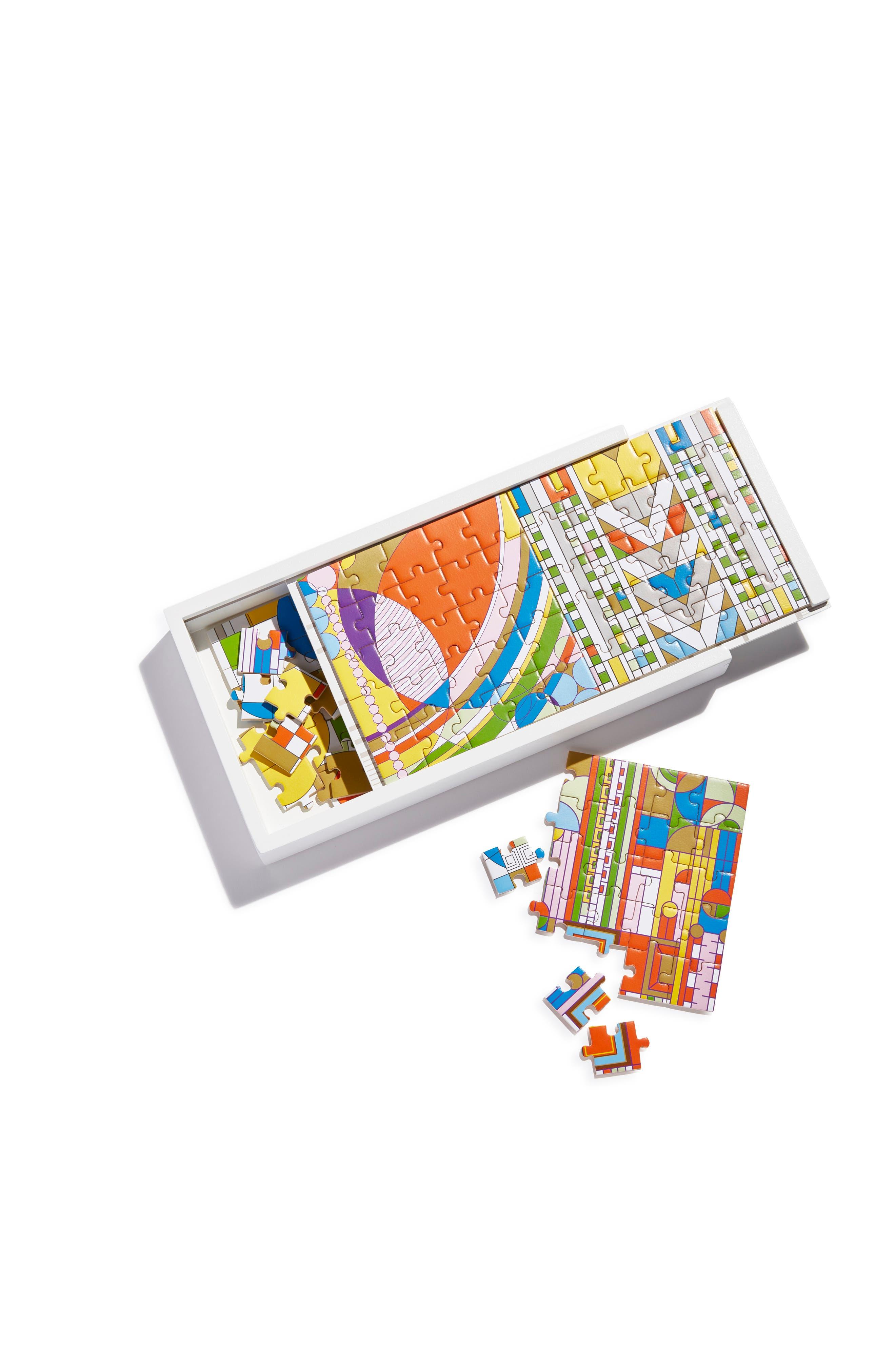 Frank Lloyd Wright Wood Puzzle Set,                         Main,                         color, MULTI
