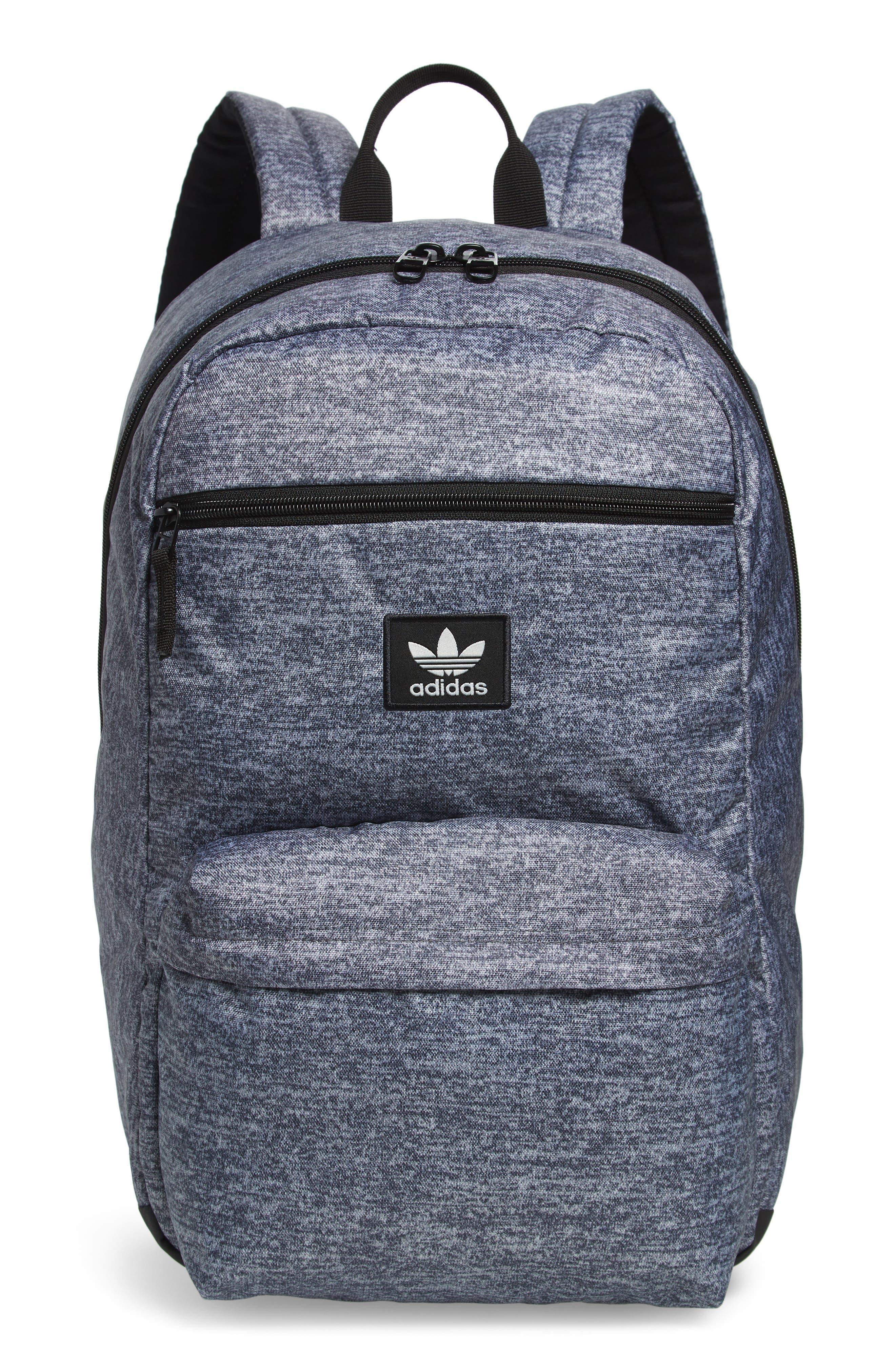 adidas Original National Backpack,                             Main thumbnail 1, color,                             ONYX JERSEY/ BLACK