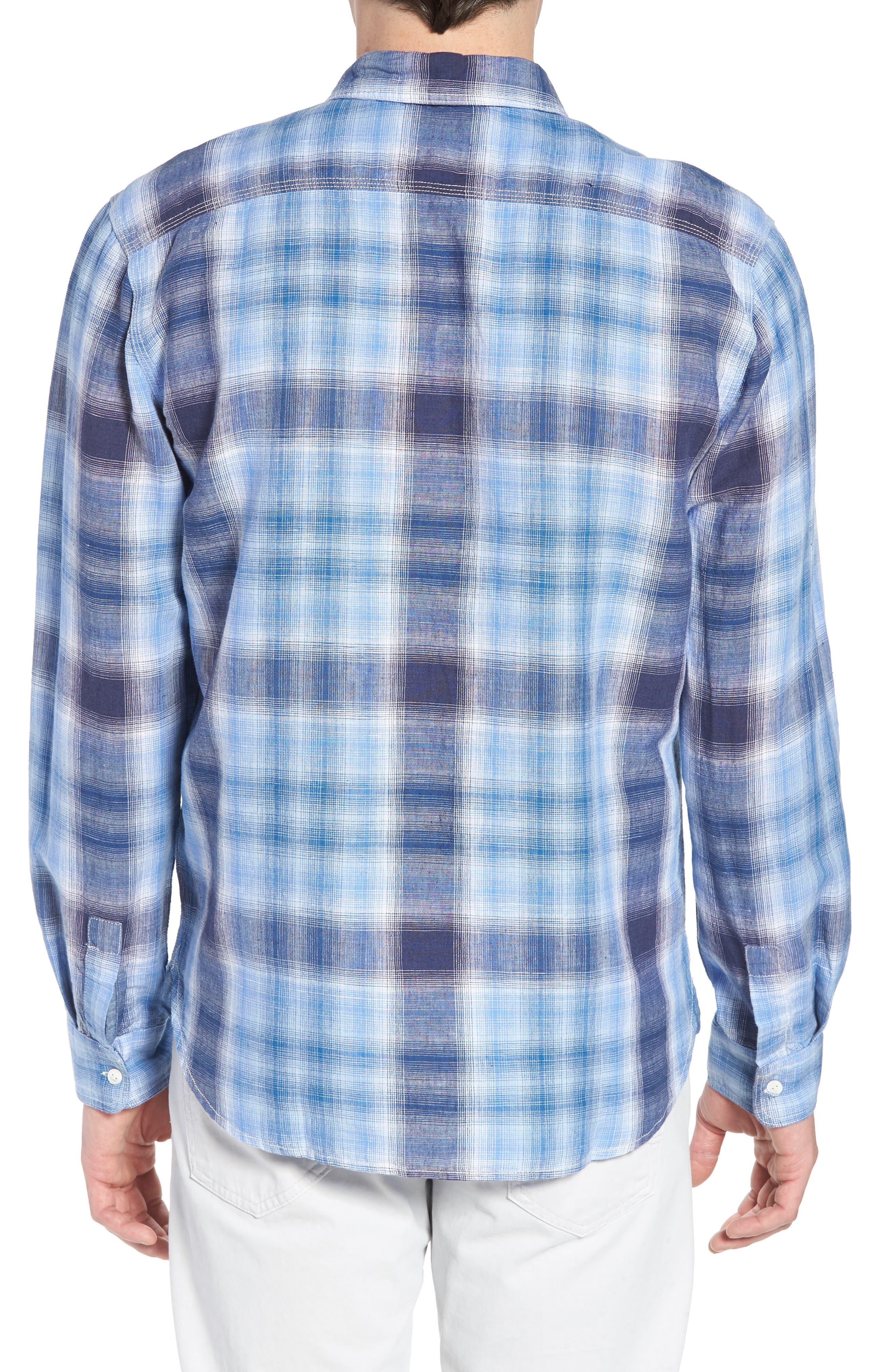 Trestles Linen & Cotton Sport Shirt,                             Alternate thumbnail 2, color,