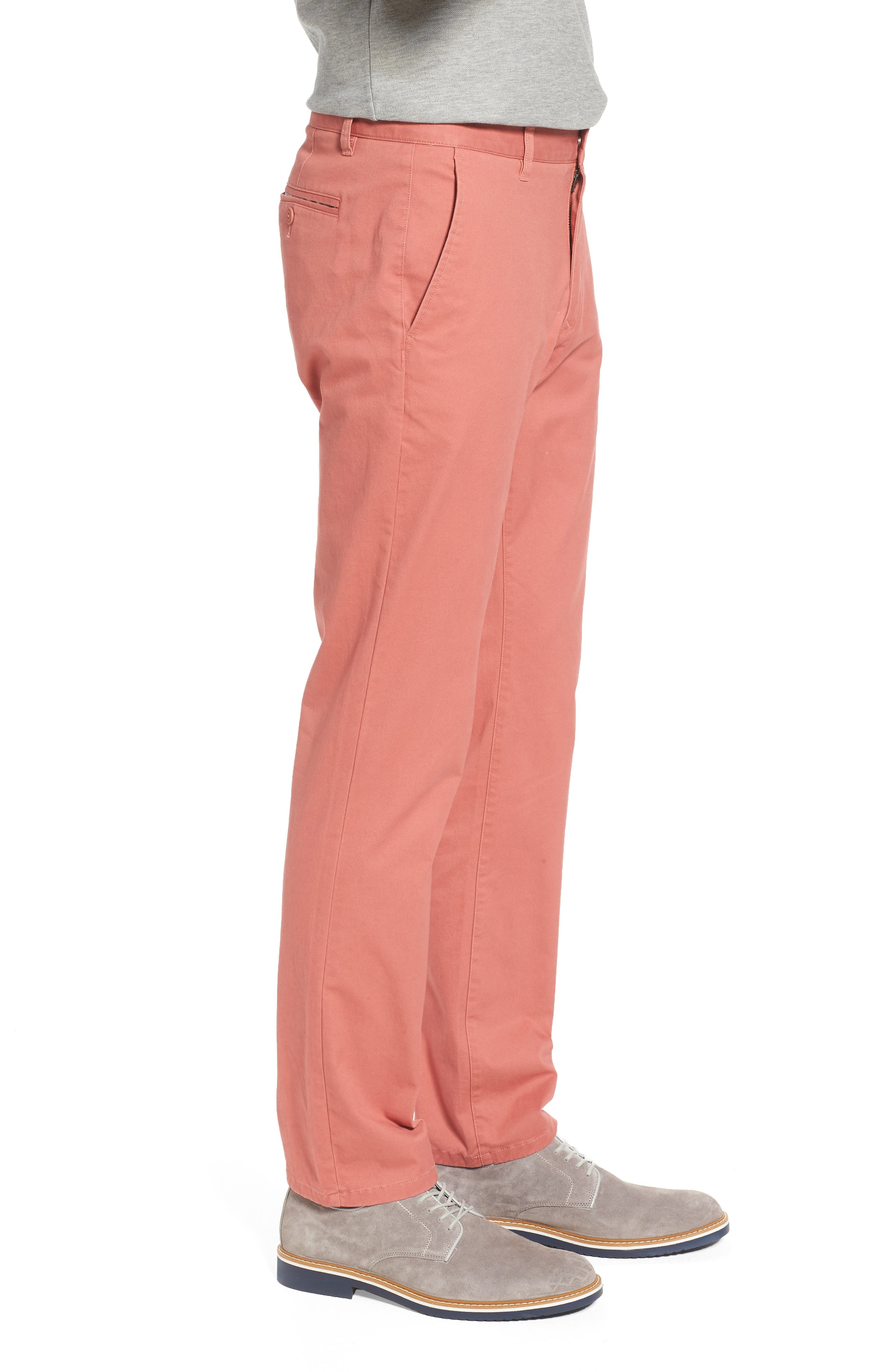 Tailored Fit Washed Stretch Cotton Chinos,                             Alternate thumbnail 94, color,