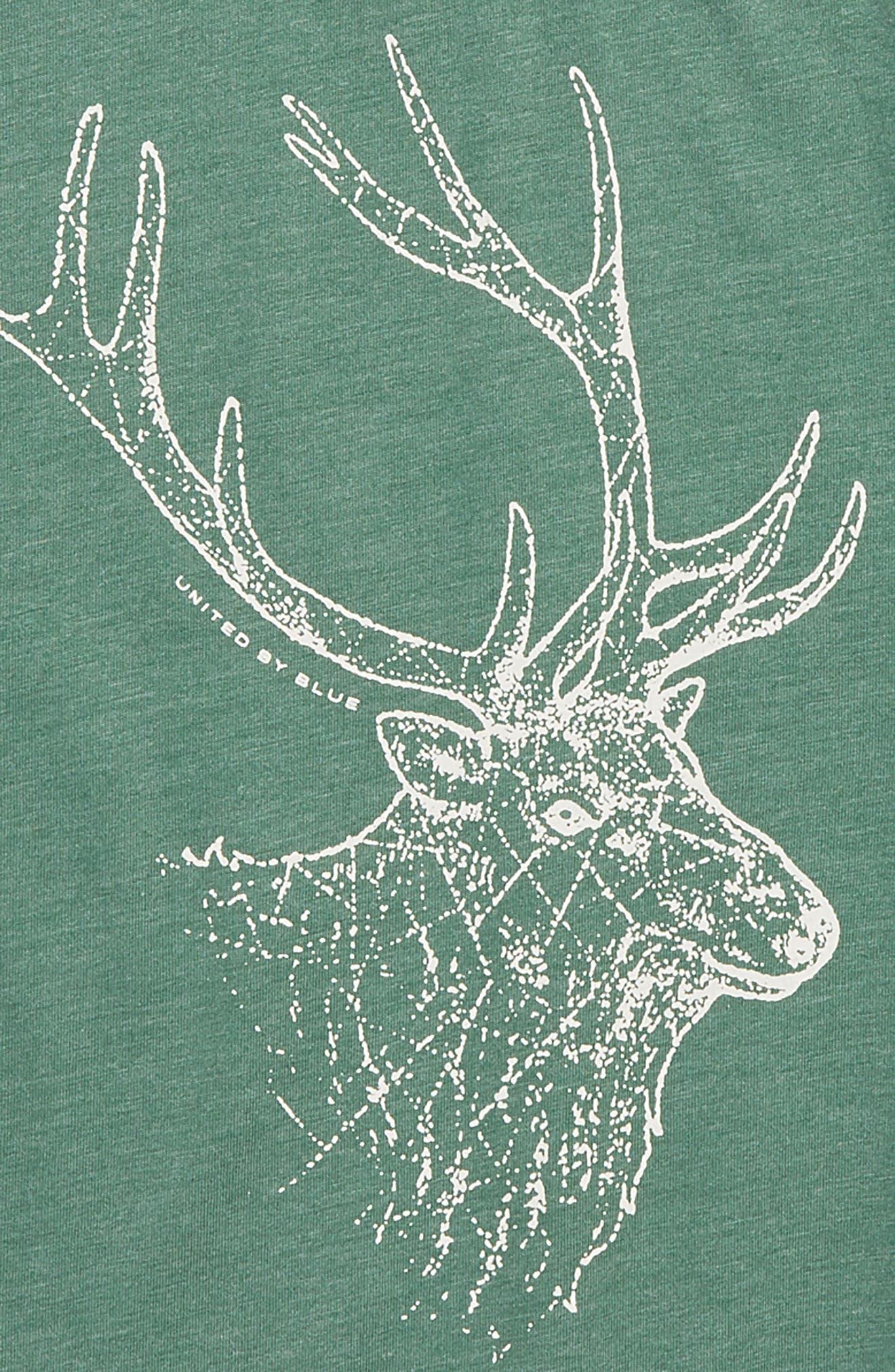 Stag T-Shirt,                             Alternate thumbnail 2, color,                             DARK GREEN