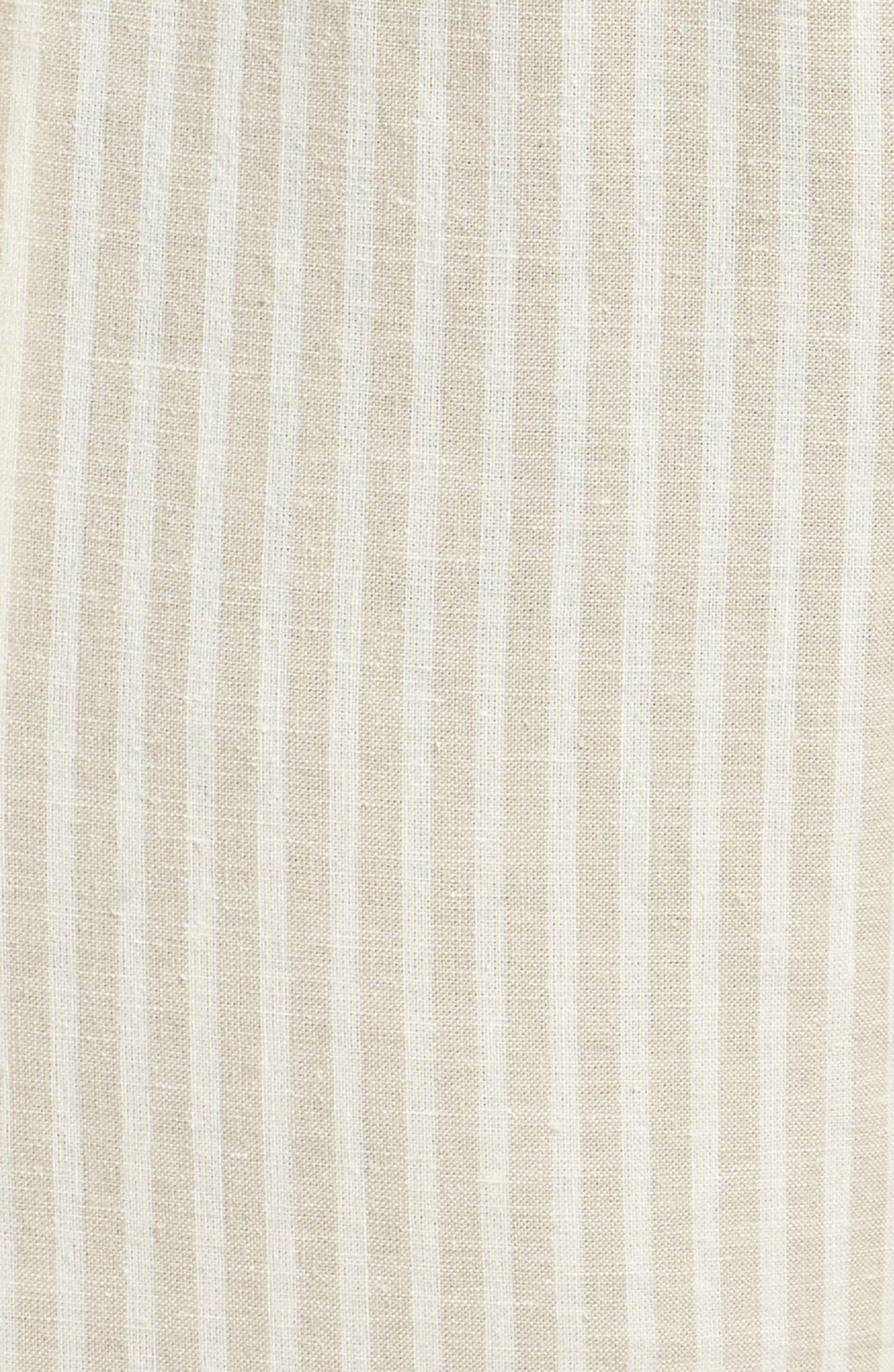 Stripe Ankle Hemp & Cotton Pants,                             Alternate thumbnail 6, color,                             257