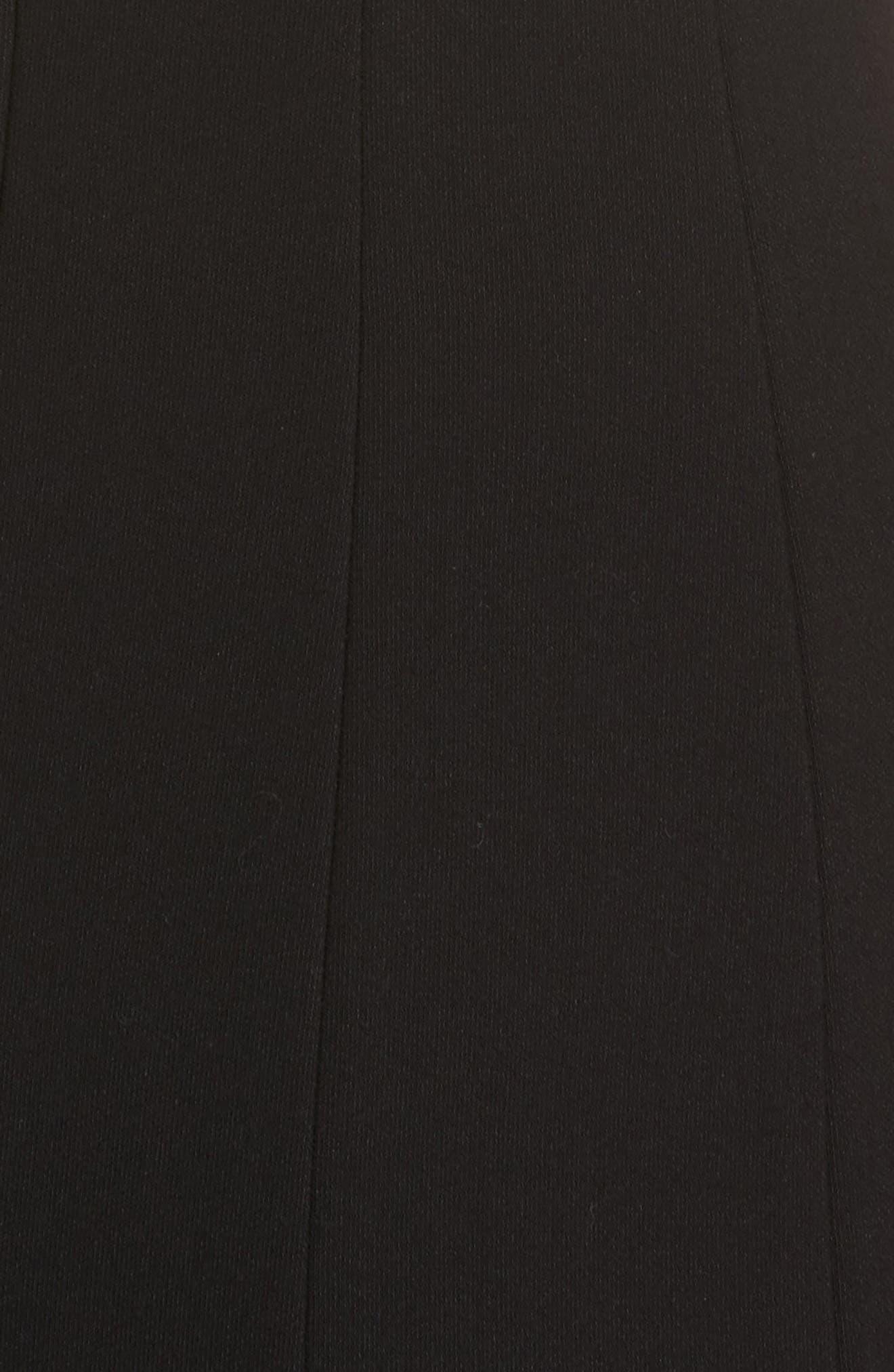 Rooney Flare Hem Dress,                             Alternate thumbnail 5, color,                             001