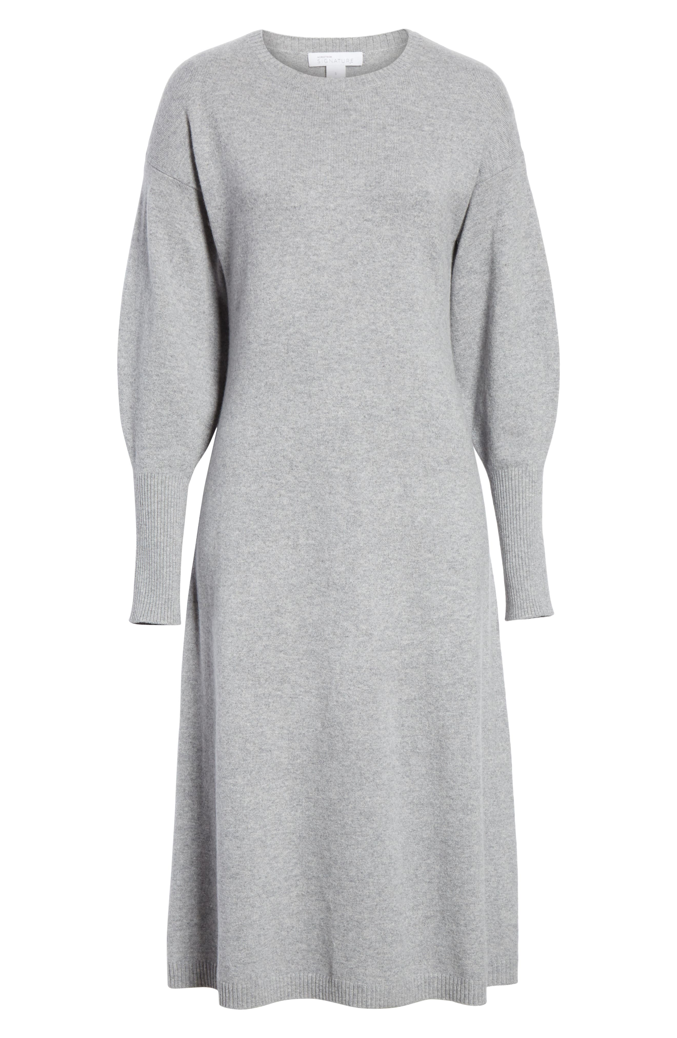 Cashmere Blend Sweater Dress,                             Alternate thumbnail 7, color,                             030
