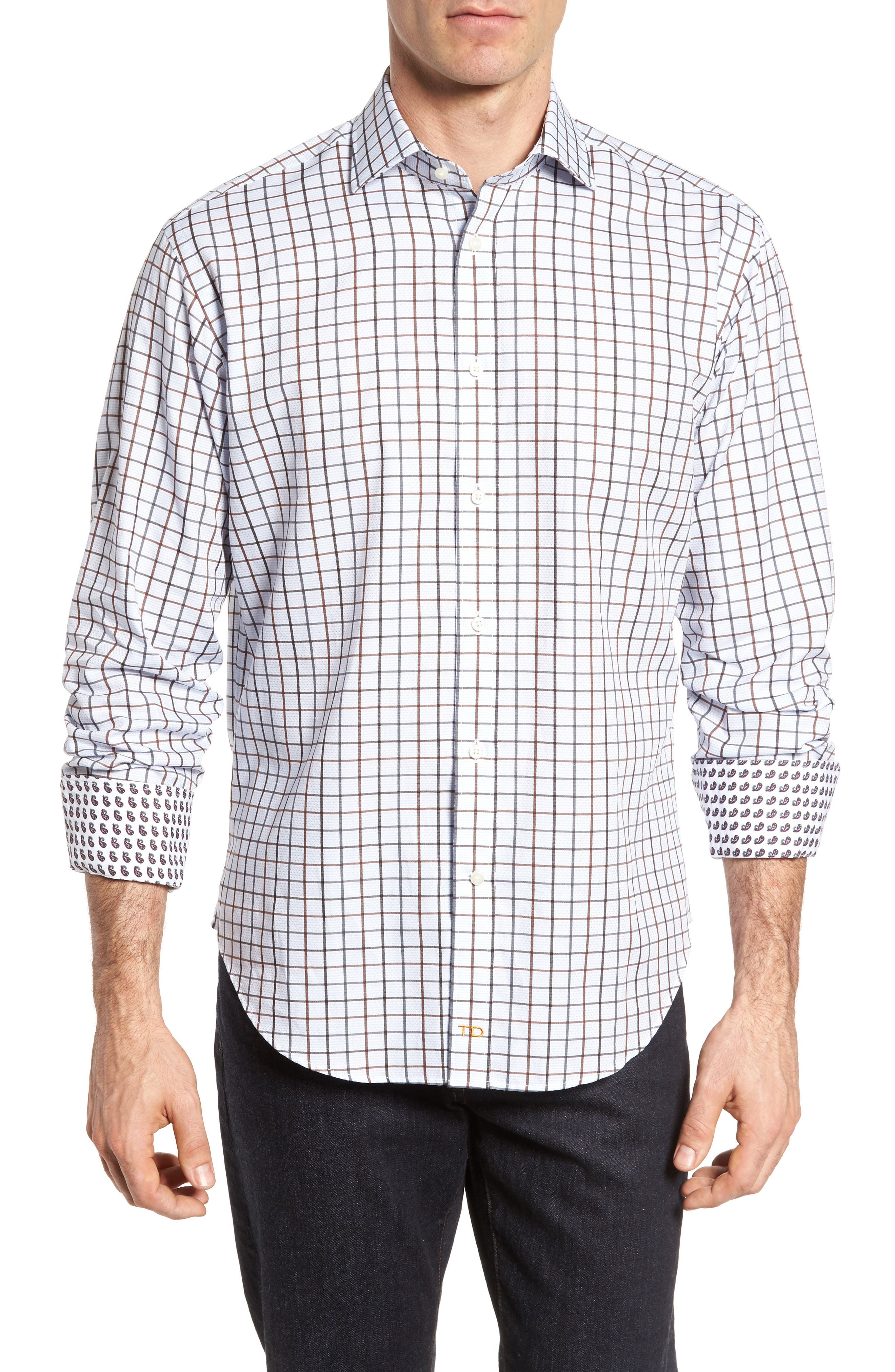 Regular Fit Check Sport Shirt,                         Main,                         color, 200