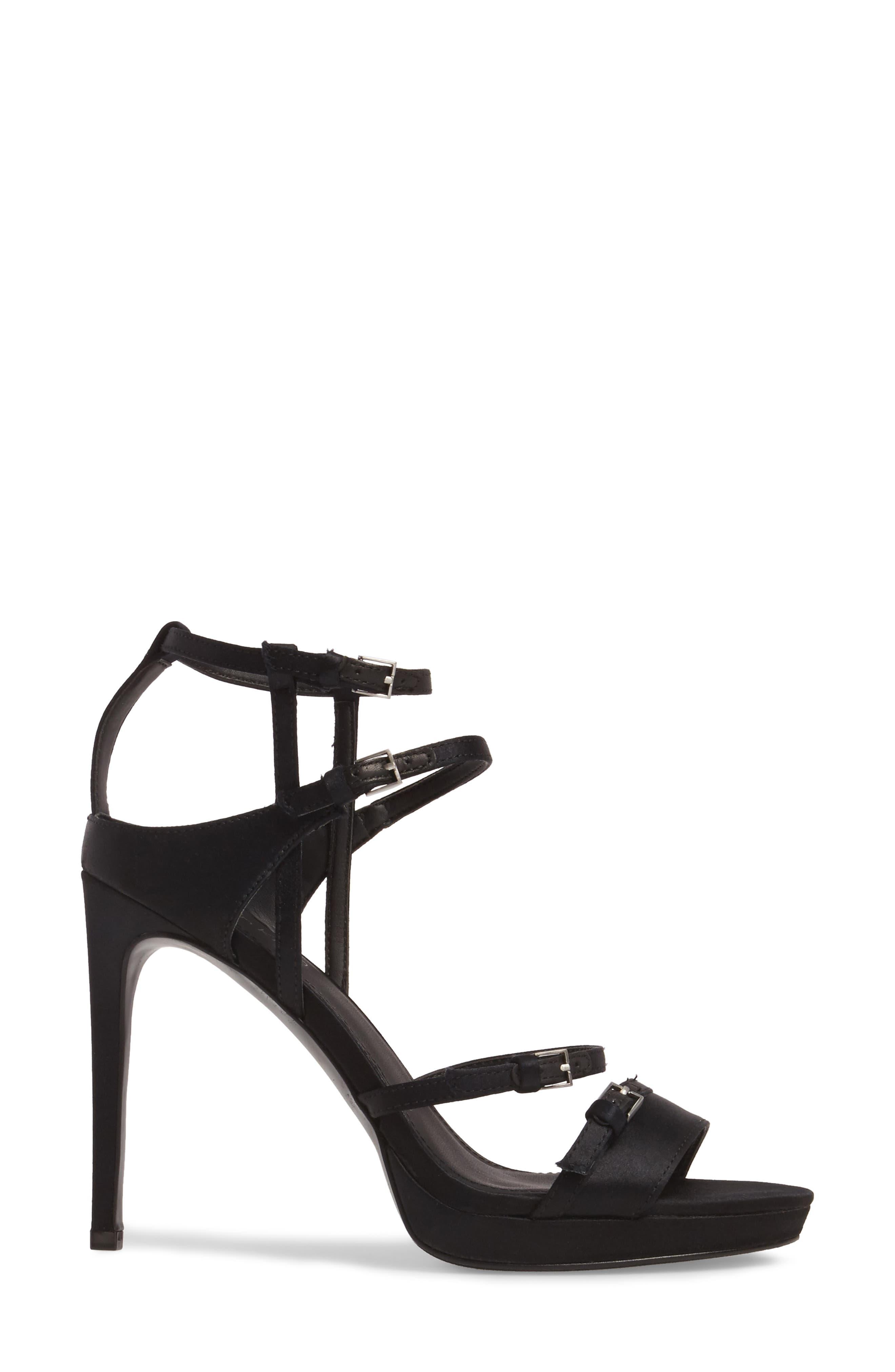 Shantell Strappy Platform Sandal,                             Alternate thumbnail 3, color,                             001