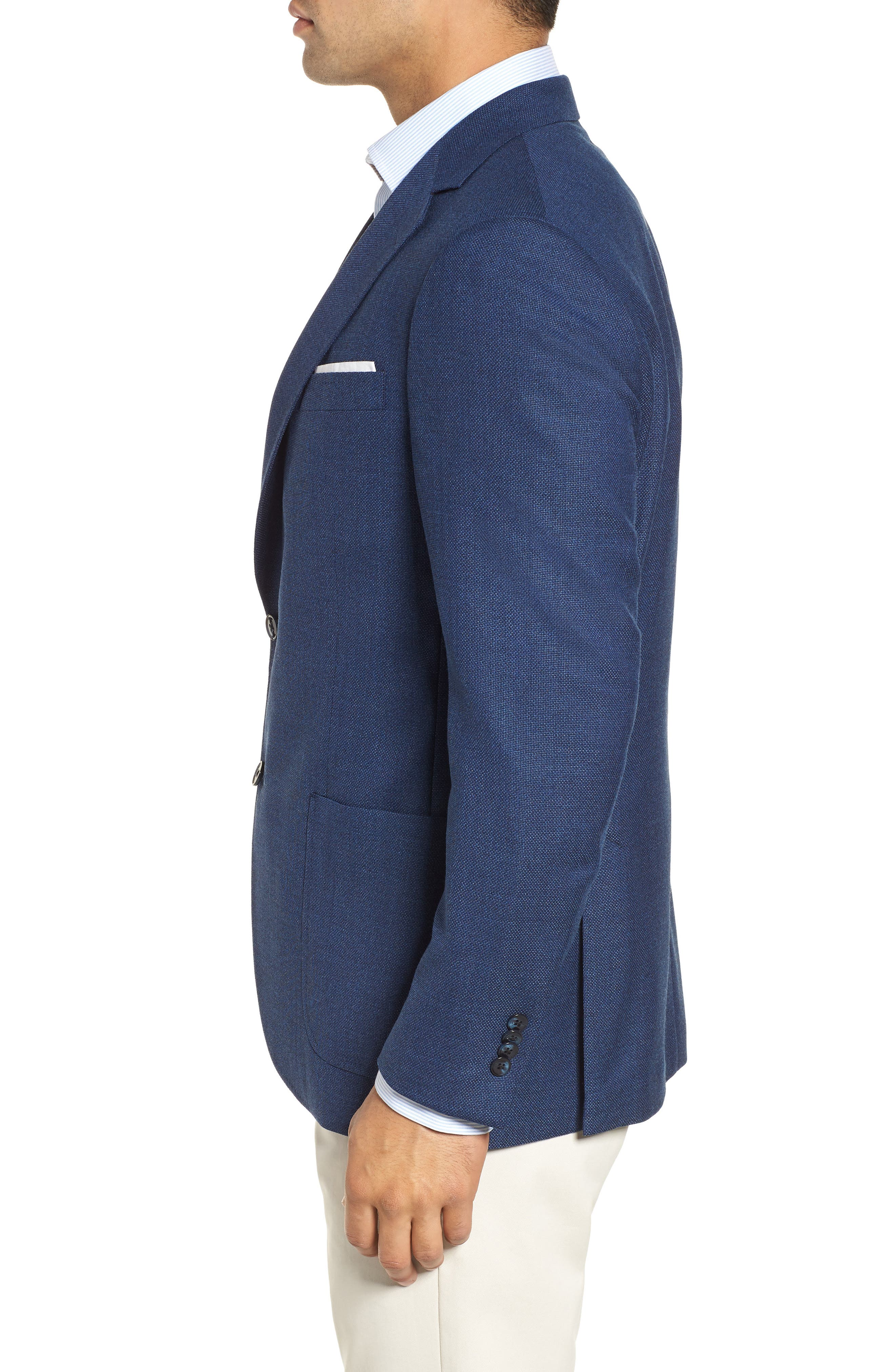 Hyperlight Classic Fit Wool Sport Coat,                             Alternate thumbnail 3, color,                             BLUE