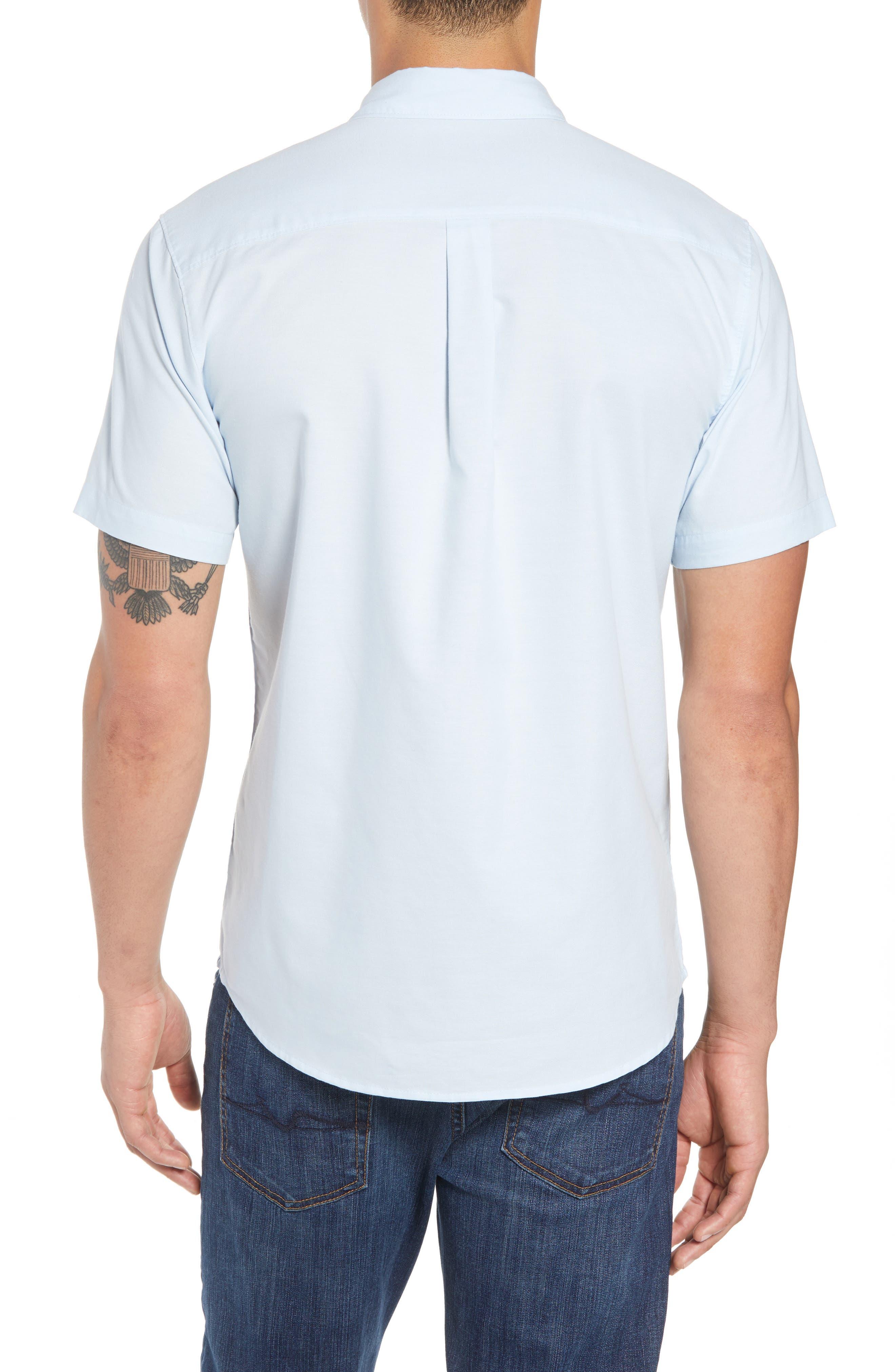 Banks Woven Shirt,                             Alternate thumbnail 2, color,                             LIGHT BLUE