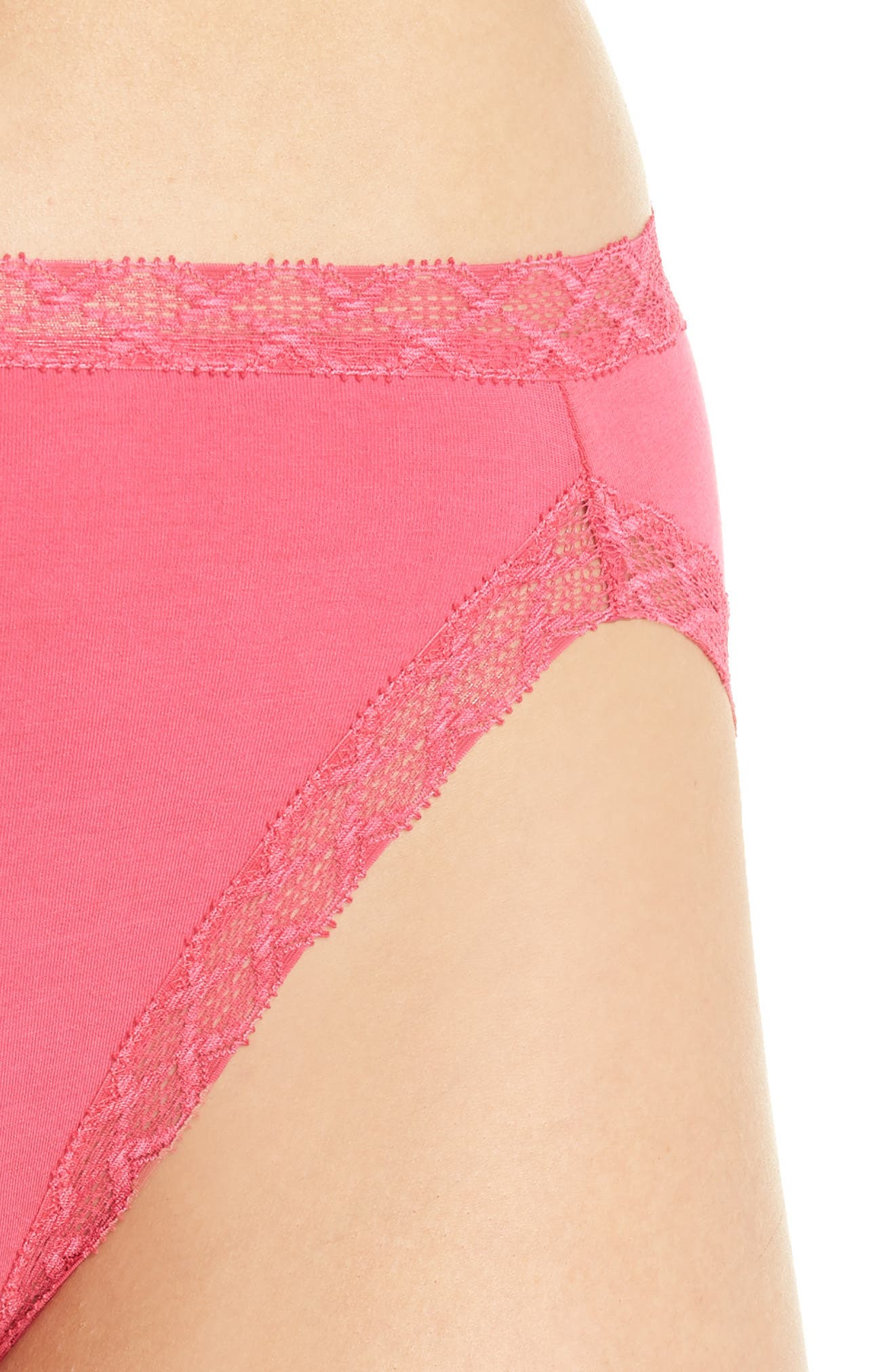 Bliss French Cut Briefs,                             Alternate thumbnail 4, color,                             HOT PINK