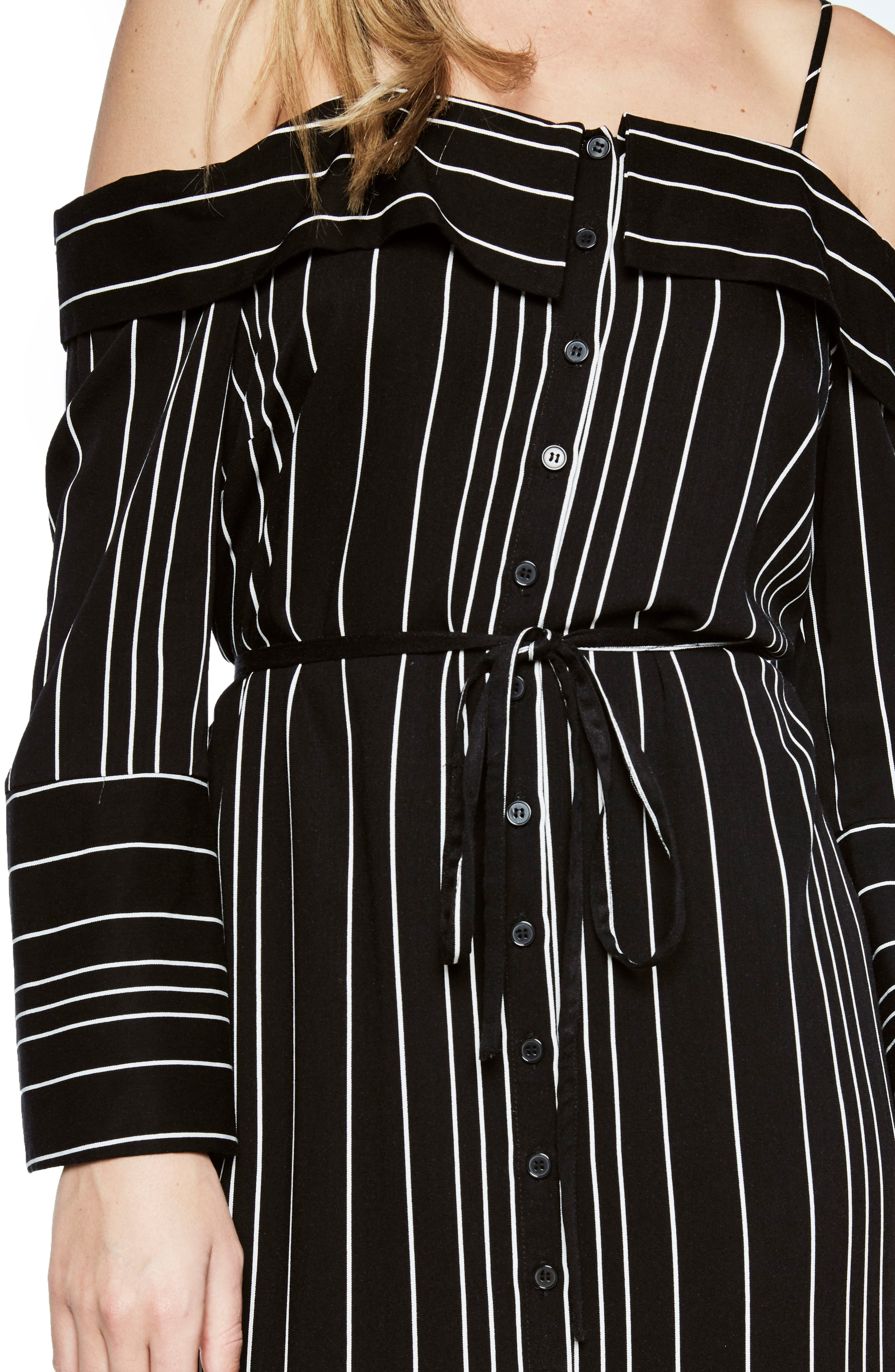 Effie Off the Shoulder Dress,                             Alternate thumbnail 4, color,                             009