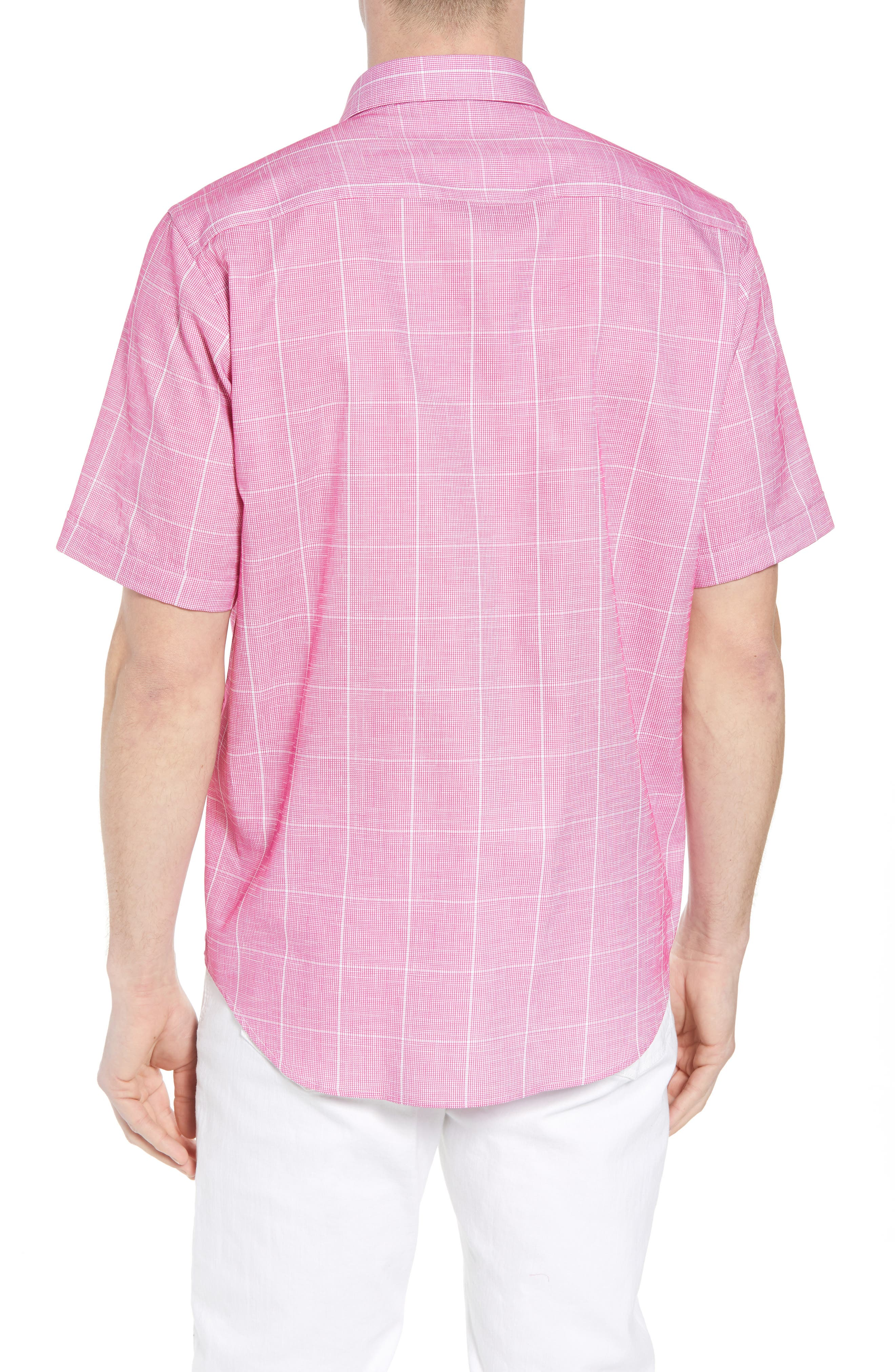 Classic Fit Check Sport Shirt,                             Alternate thumbnail 2, color,                             BERRY