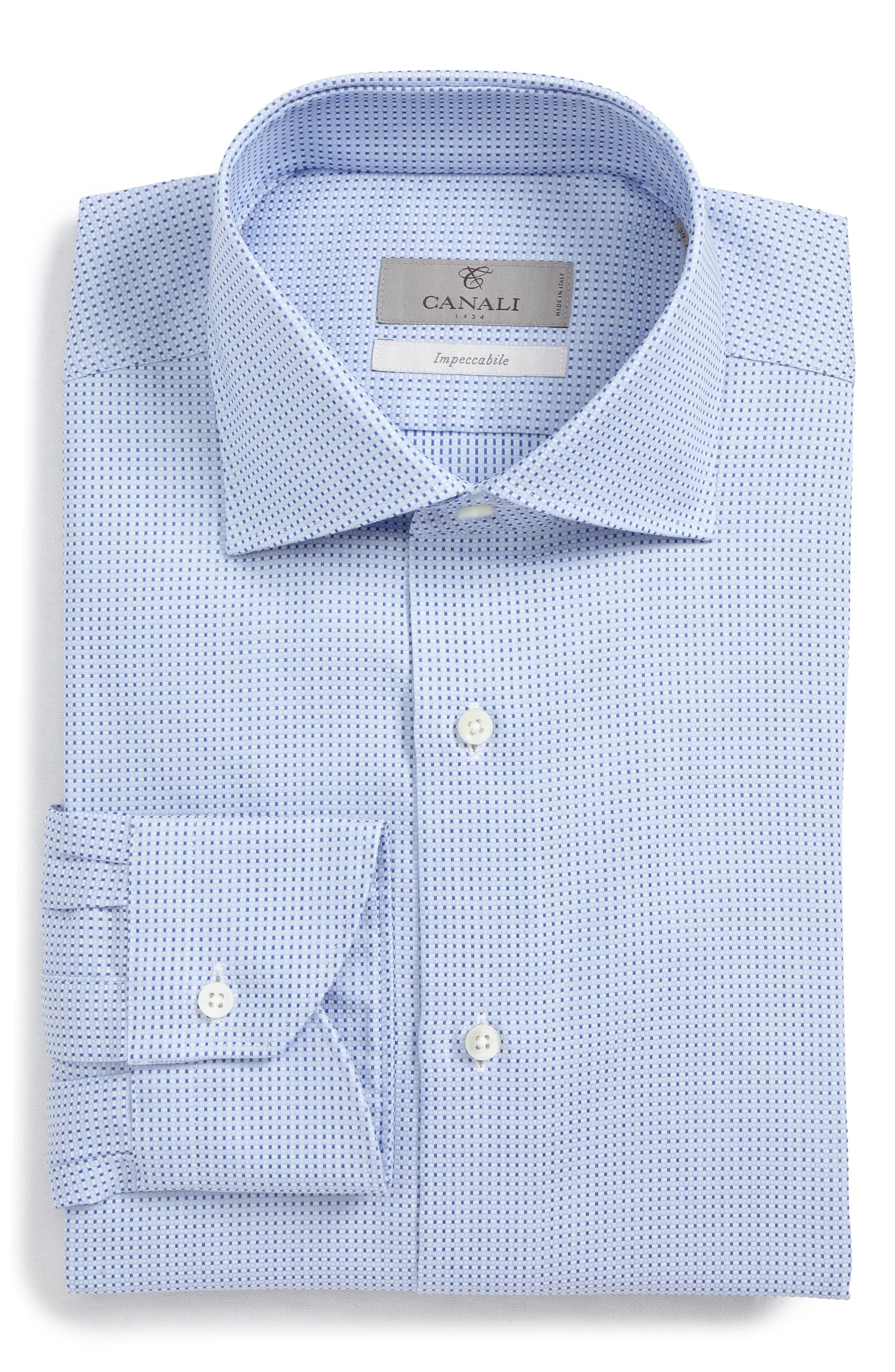 Regular Fit Geometric Dress Shirt,                         Main,                         color, 450