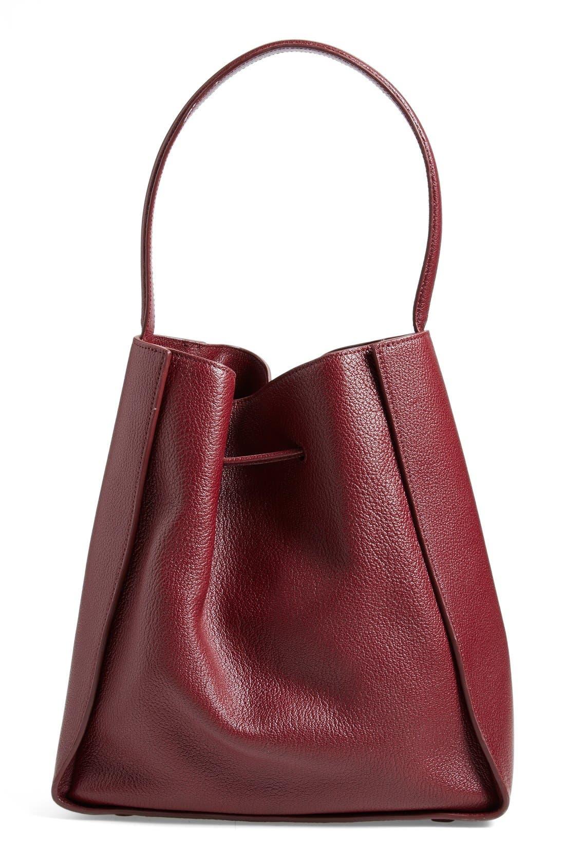 'Large Soleil' Leather Bucket Bag,                             Alternate thumbnail 14, color,