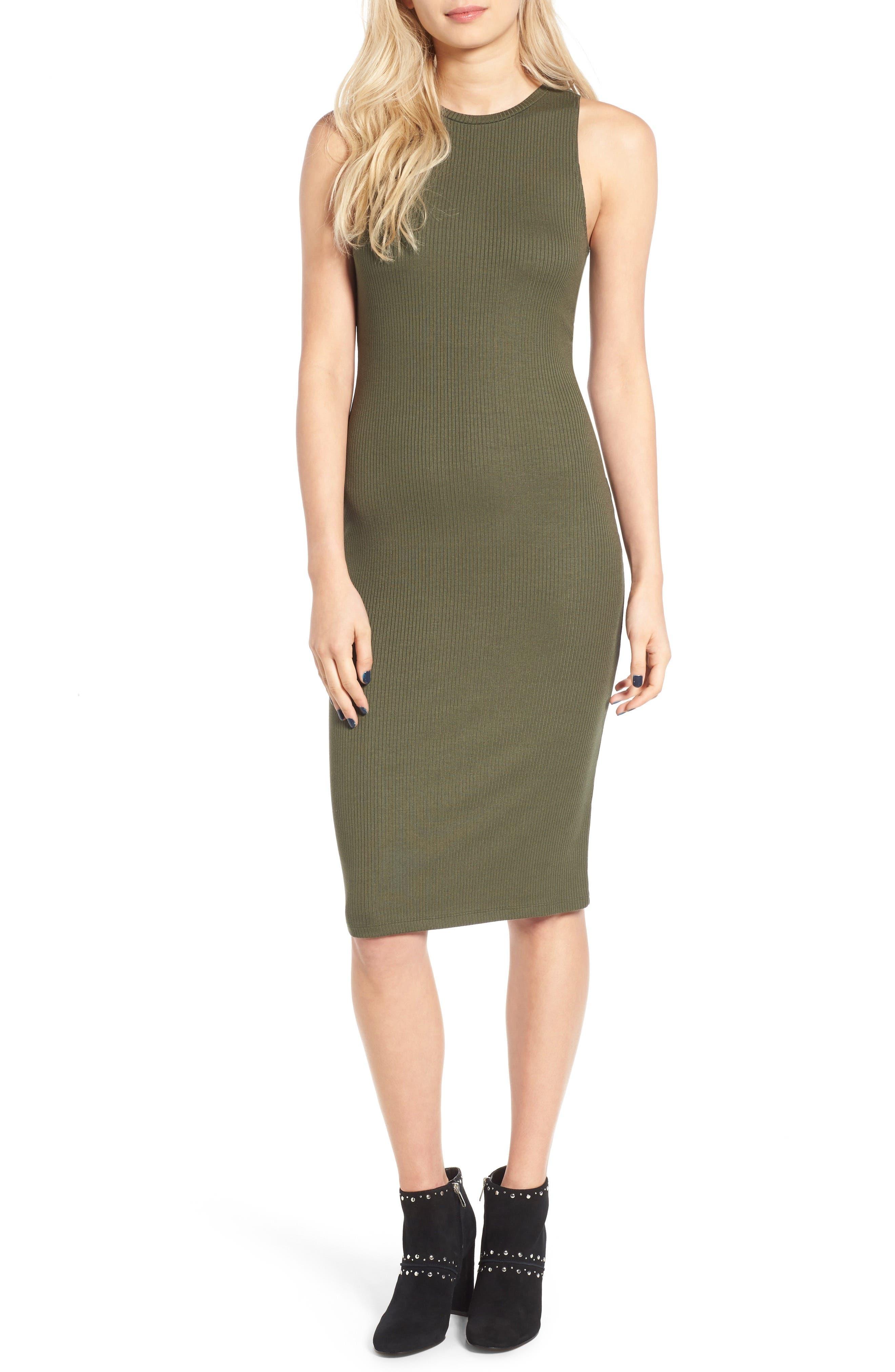 Rib Tank Dress,                             Main thumbnail 3, color,